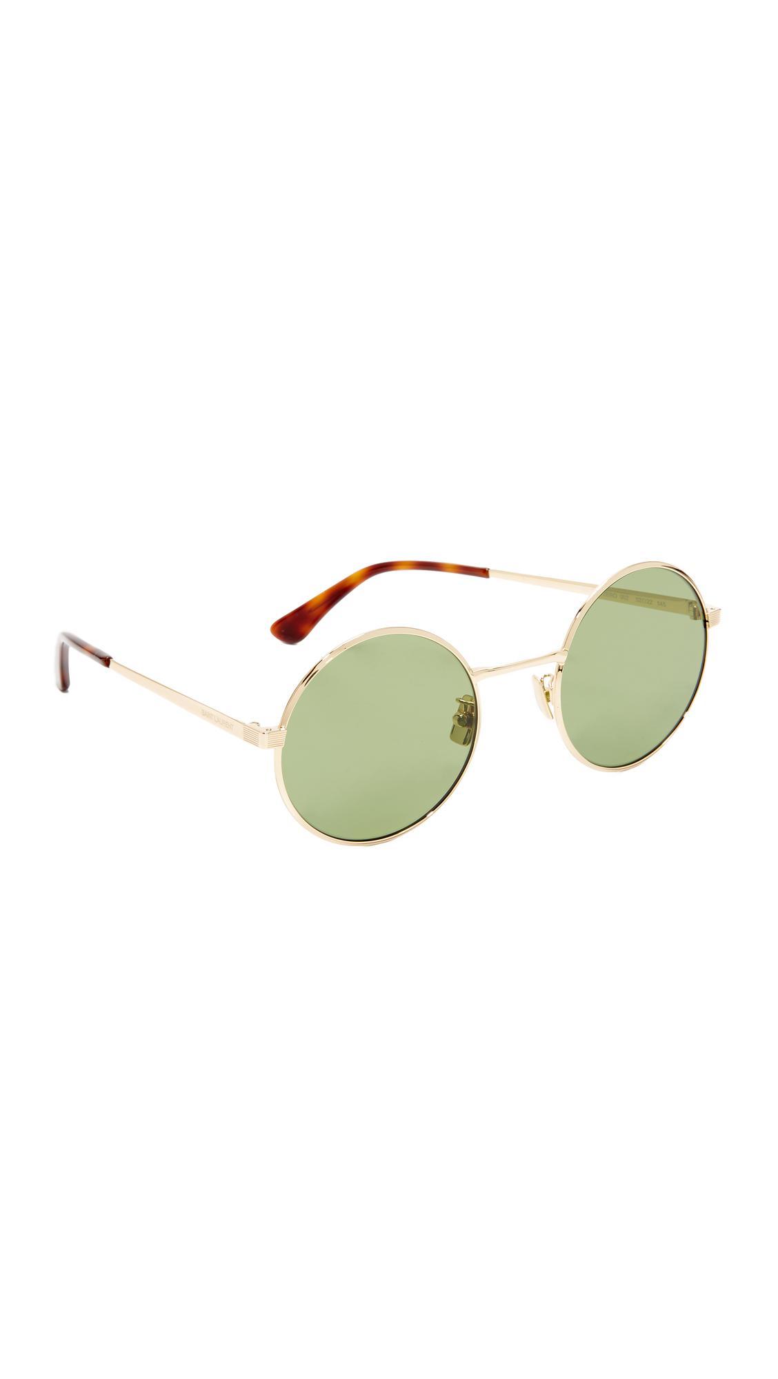 f5679ceb74 Saint Laurent Sl 136 Zero Base Mineral Lense Round Sunglasses in ...