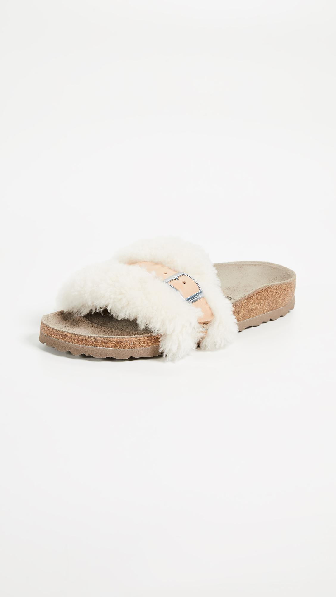8fe29256d33 Lyst - Birkenstock Carmen Shearling Sandals - Save 17%