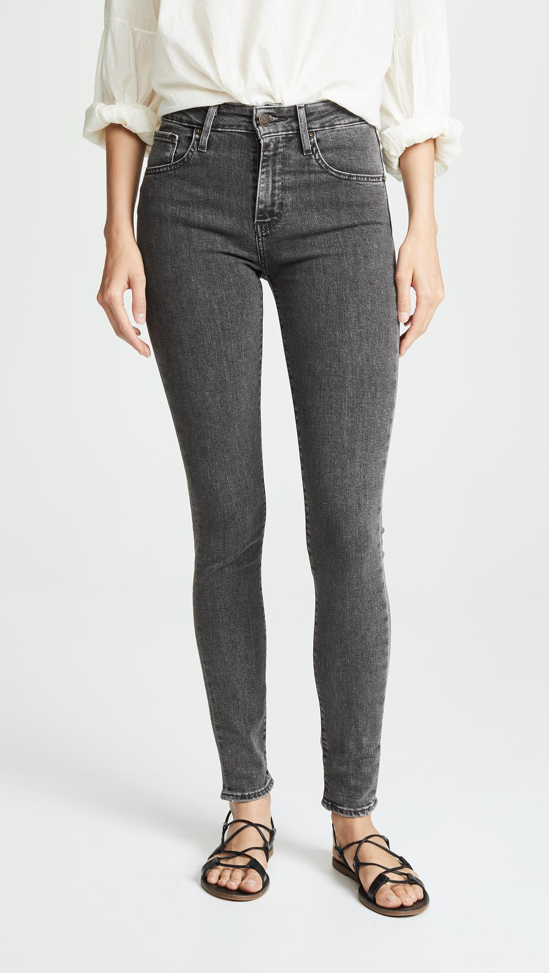 Levi's 721 Black High Jeans Rise In Lyst Skinny wBSwv
