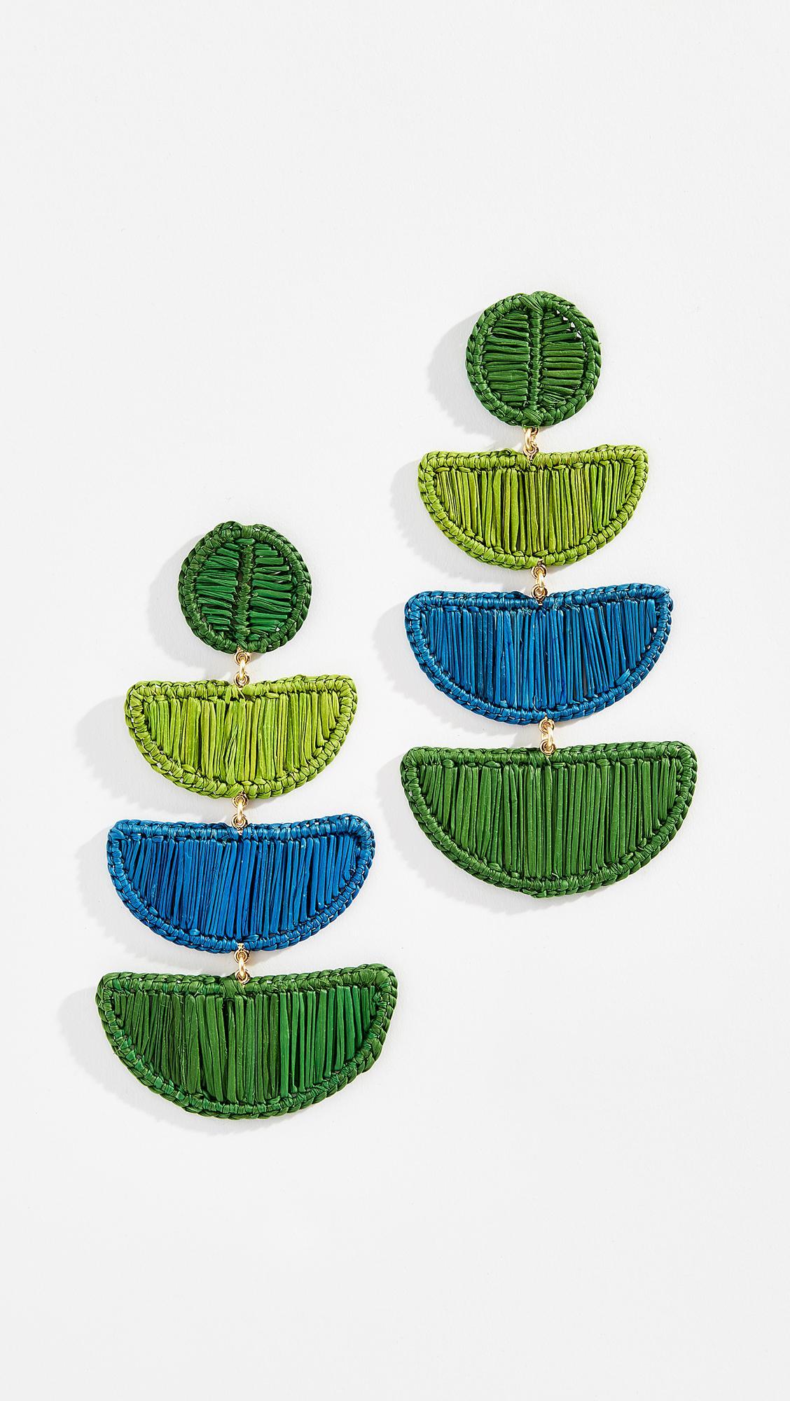Mercedes Salazar Móvil Azul y Verde Earrings y5v5O9KXb