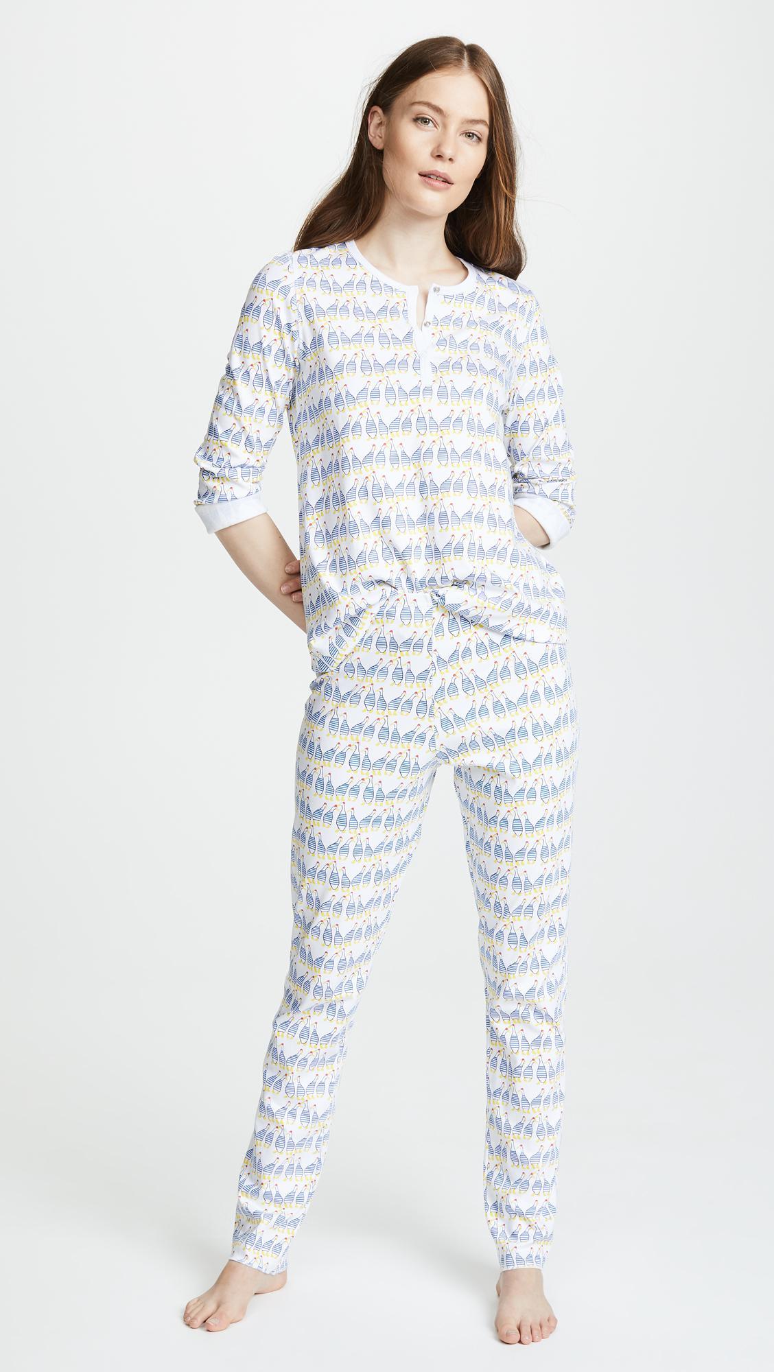 5b1f983e3513 Lyst - Roberta Roller Rabbit Sissou Pajama Set in Blue