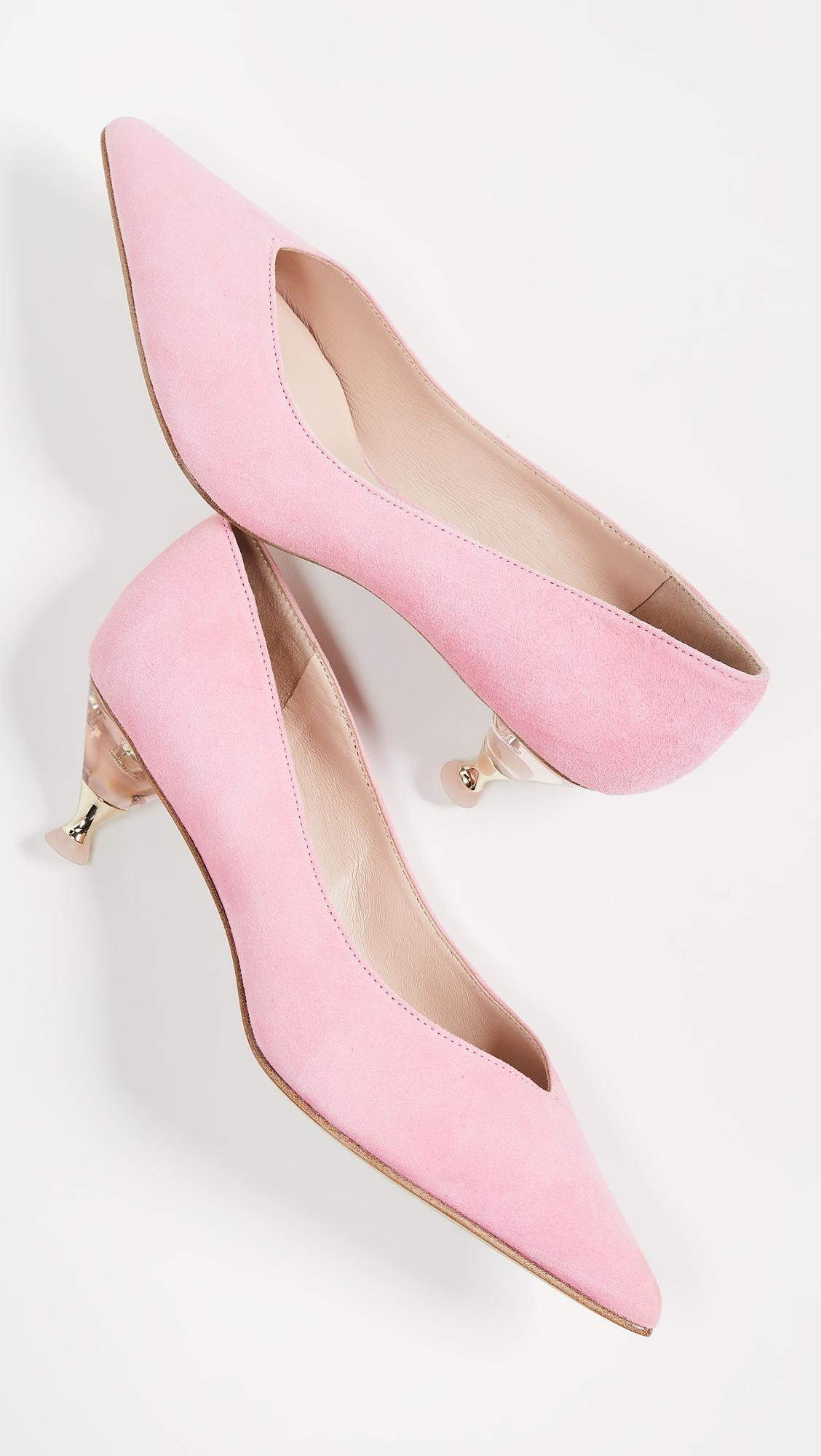8d1bfc854 Kate Spade Coco Point Toe Pumps in Pink - Lyst