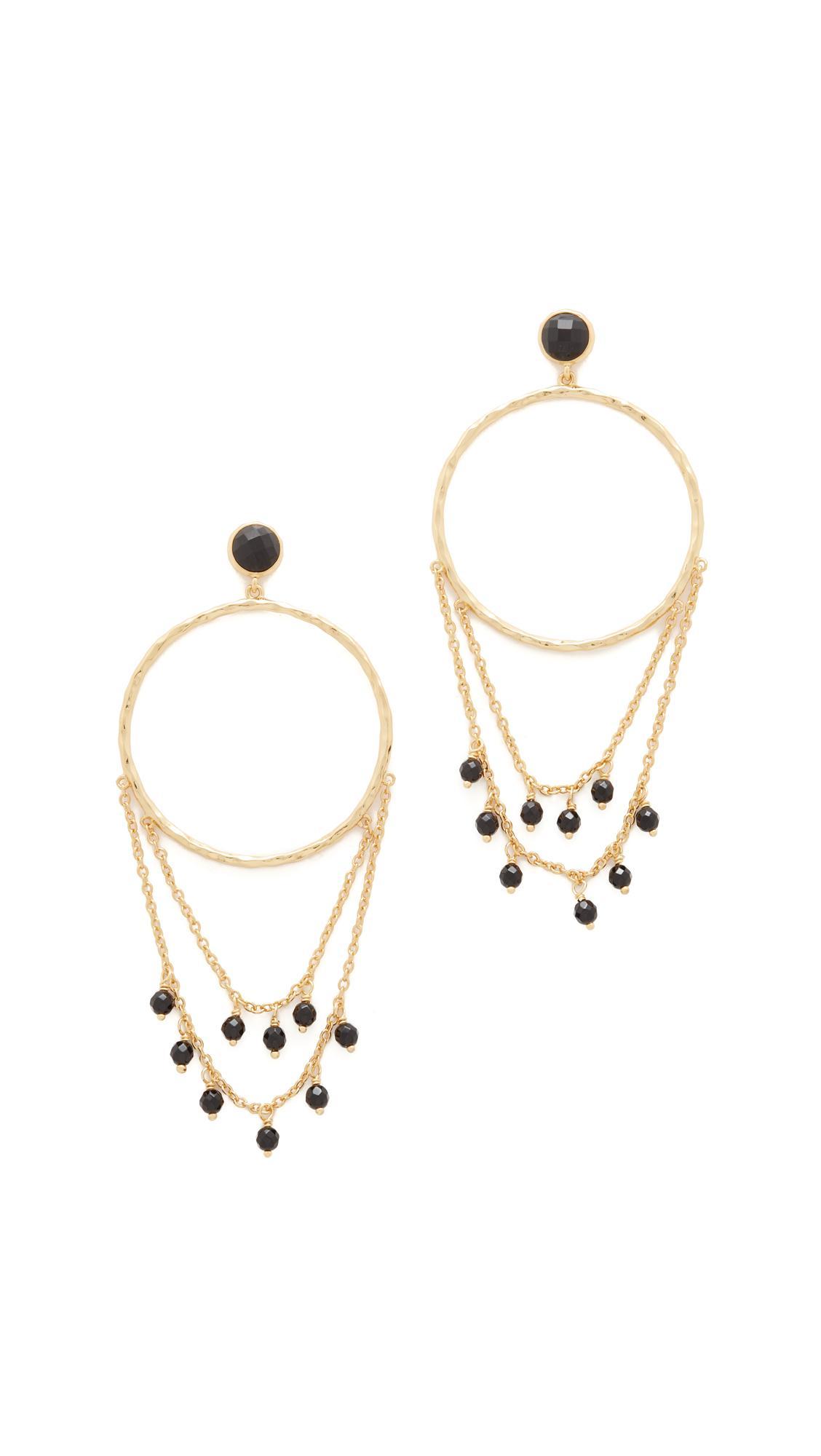 Gorjana Sol Drape Hoop Earrings in Metallic Gold QPu2OEanI