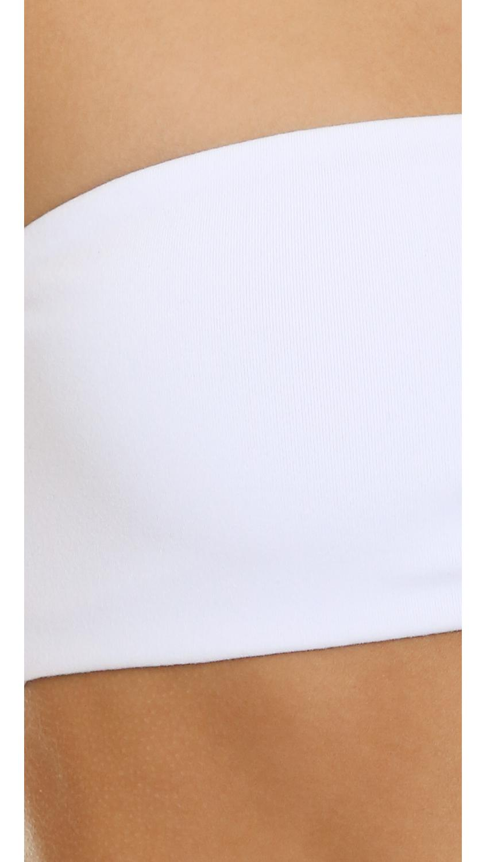 26c8051f29f1f Top Secret - White Tiny Tube Bandeau Bra - Lyst. View fullscreen