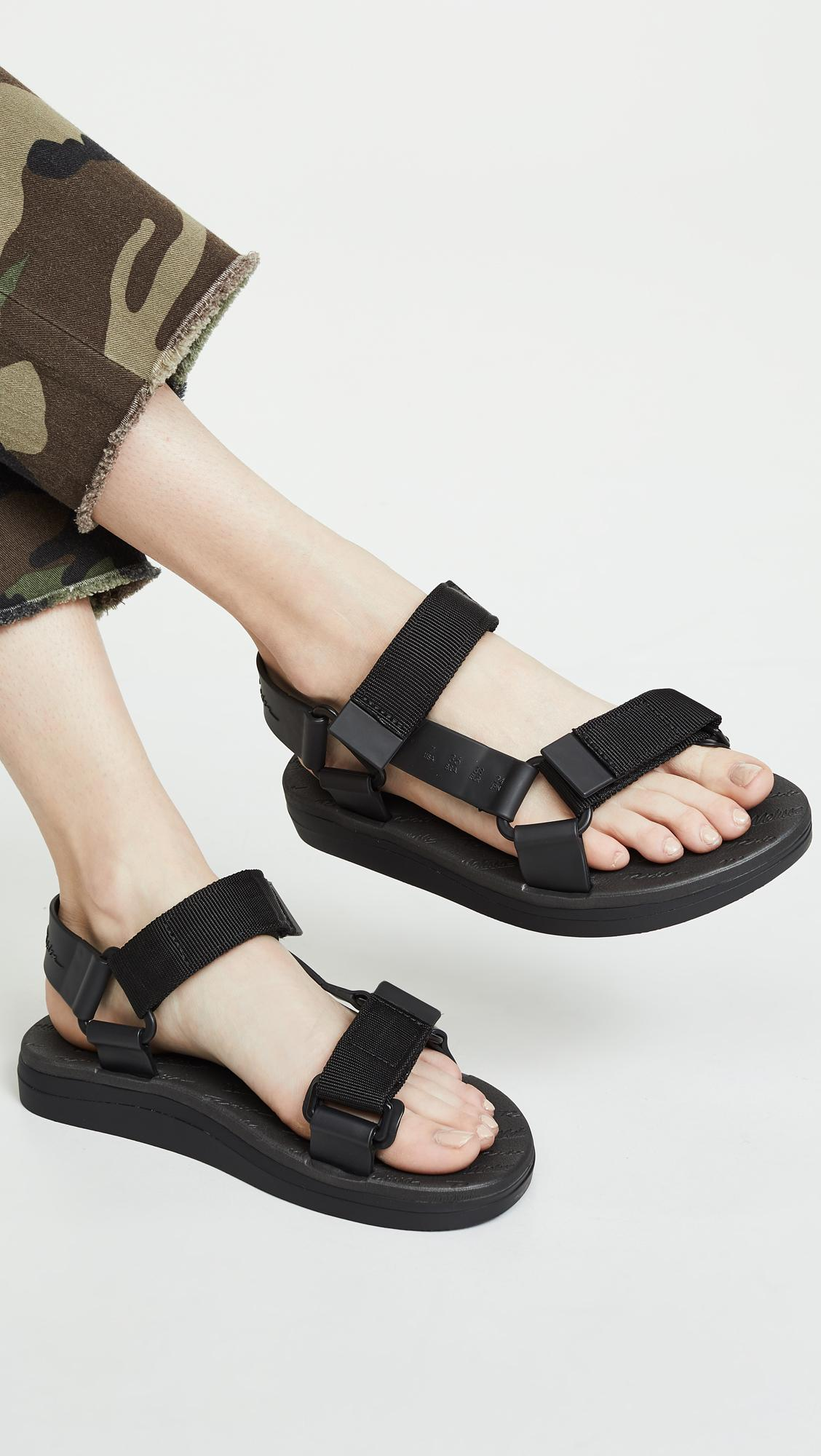 07c2e9421 Melissa X Rider Papete Sandals in Black - Lyst