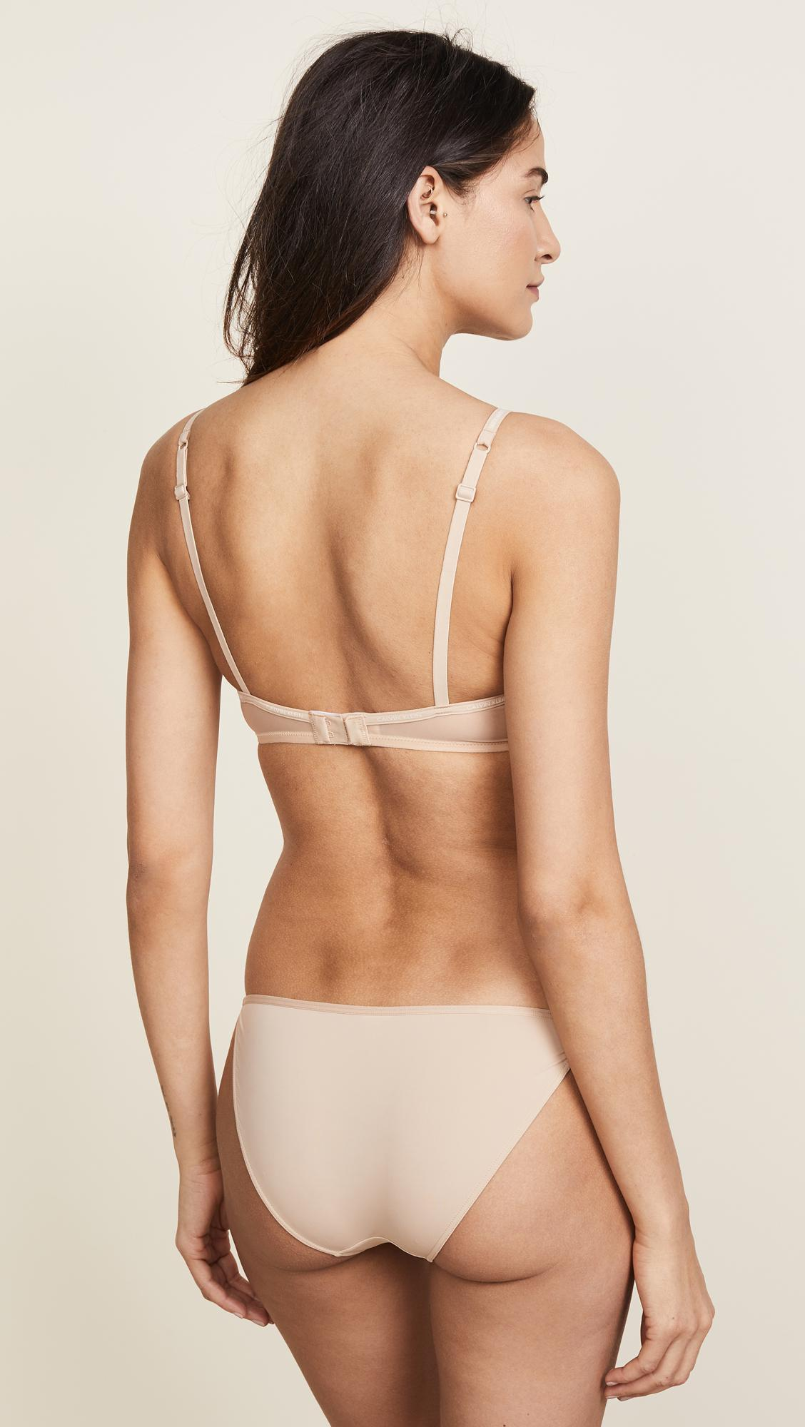 e6d9de13b14 Calvin Klein - Natural Sheer Marq Demi Unlined Bra - Lyst. View fullscreen