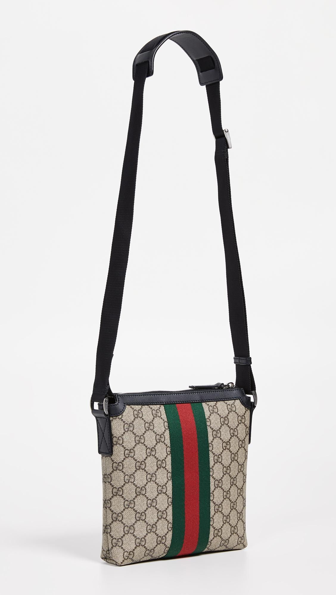 cbd711cdcd4ab3 Lyst - What Goes Around Comes Around Gucci Web Messenger Bag in Black