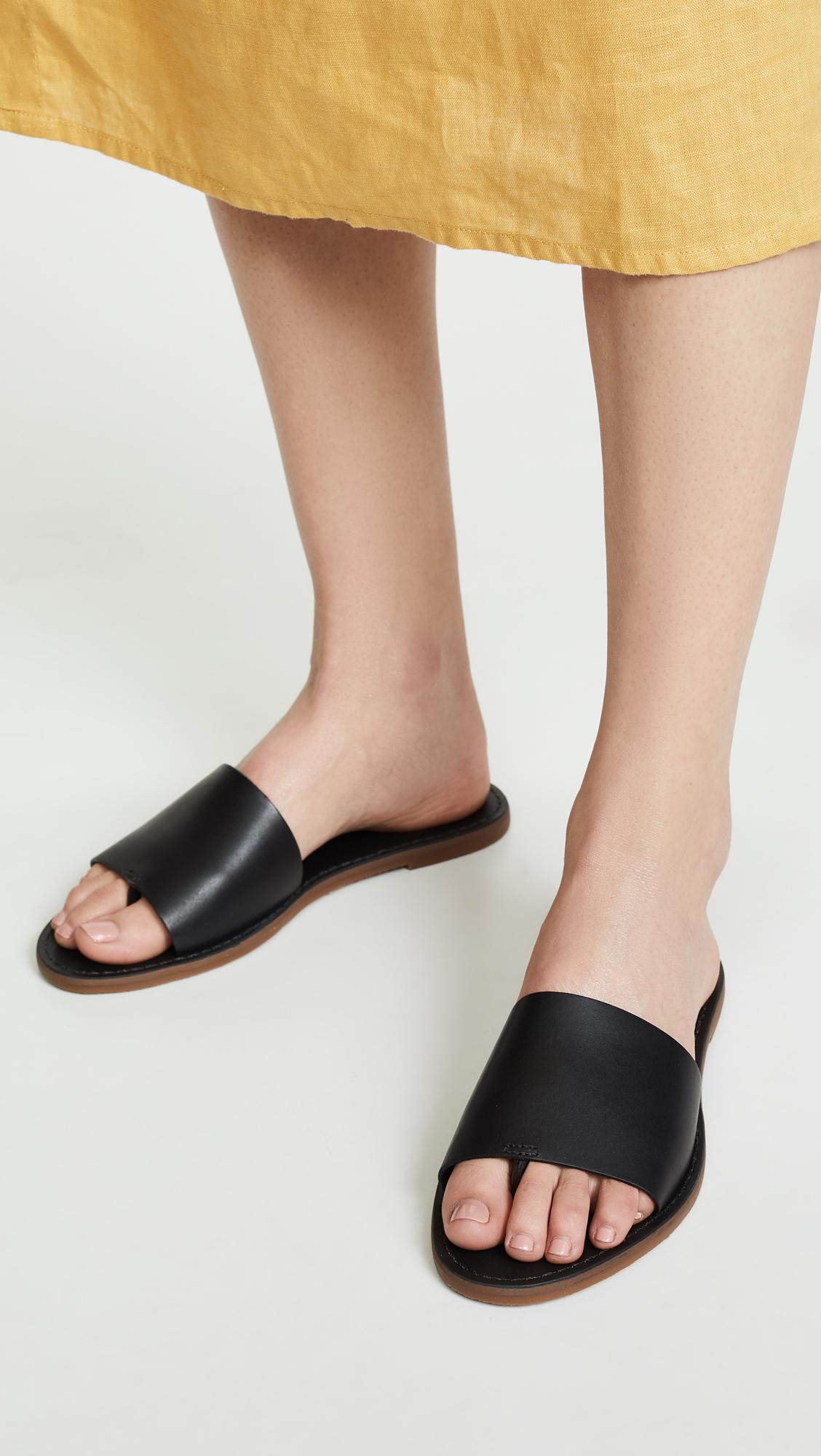 b62c3f1d15d2 Madewell - Black The Boardwalk Post Slide Sandals - Lyst. View fullscreen