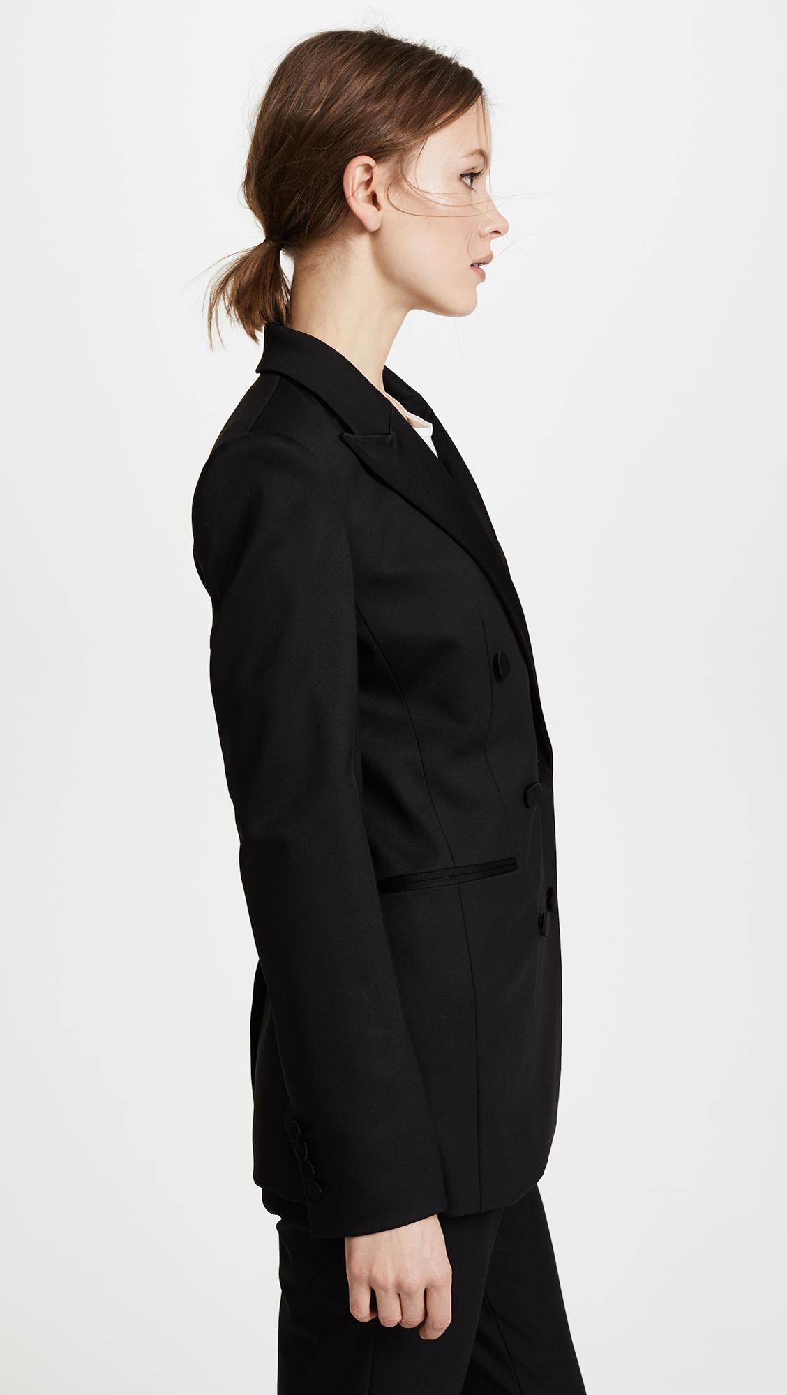 311ee069628d Lyst - Theory Wool Tux Jacket in Black