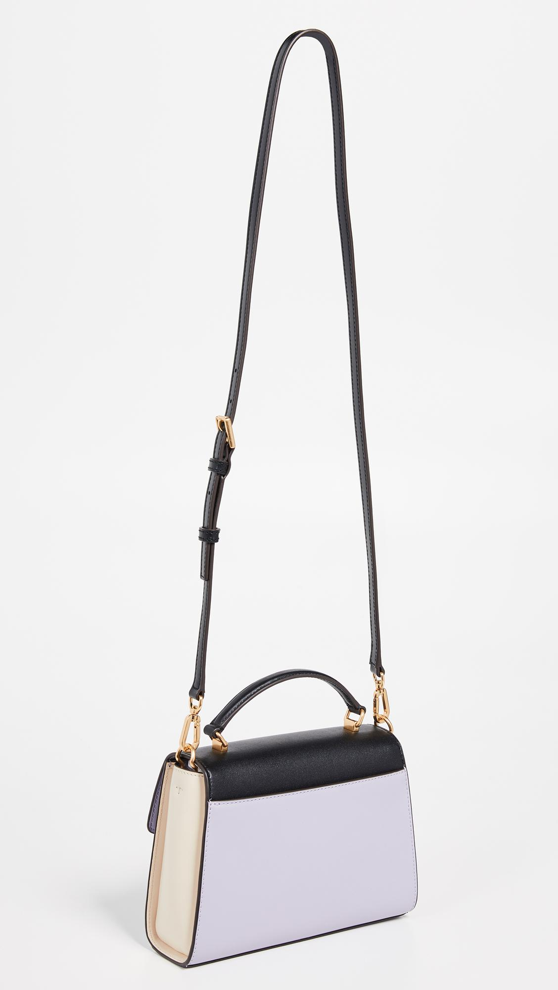 c22dc8ae87a4 Tory Burch - Black Juliette Colorblock Small Top Handle Satchel - Lyst.  View fullscreen