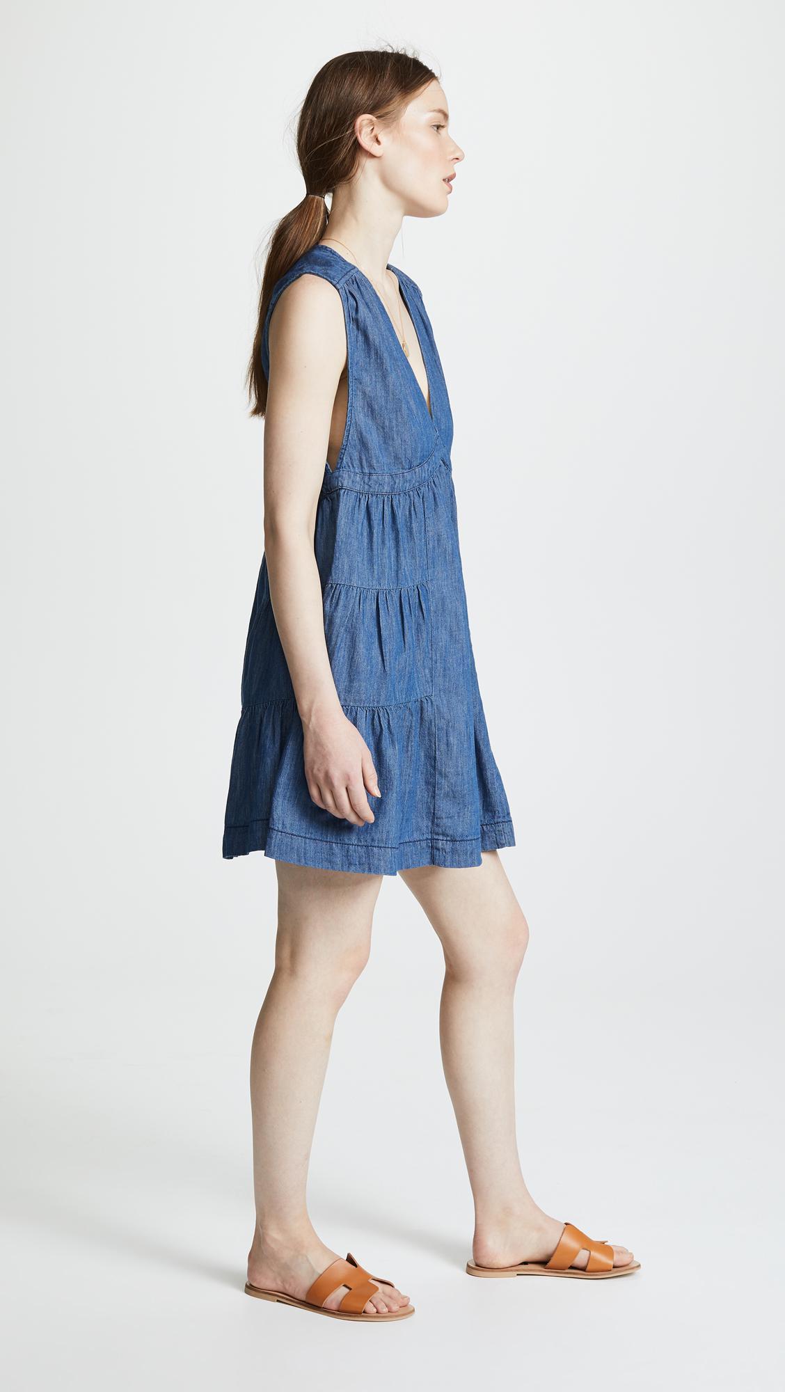 741b4ef14b2d Lyst - Free People Esme Mini Dress in Blue