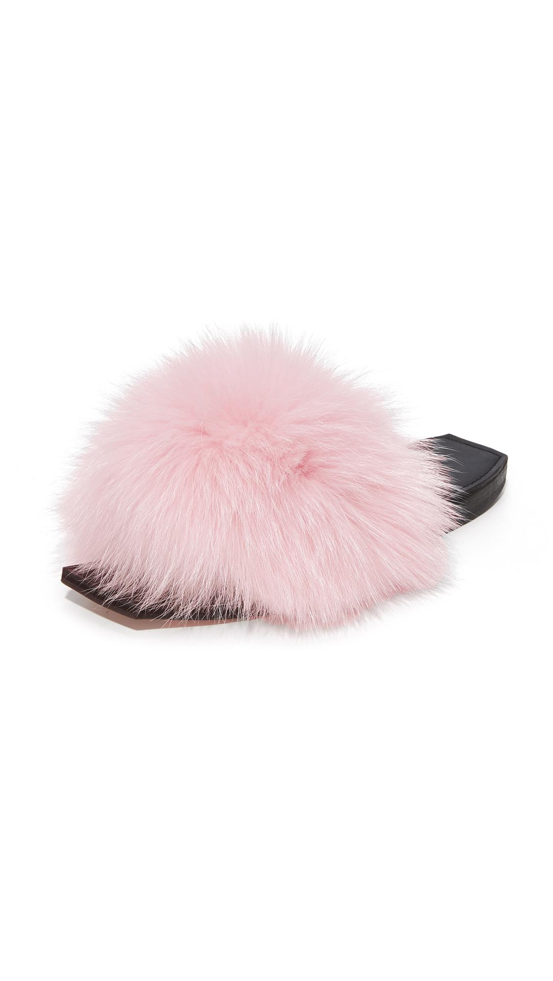 da92321789d62 Lyst - Parme Marin Furry Baby Slide in Pink