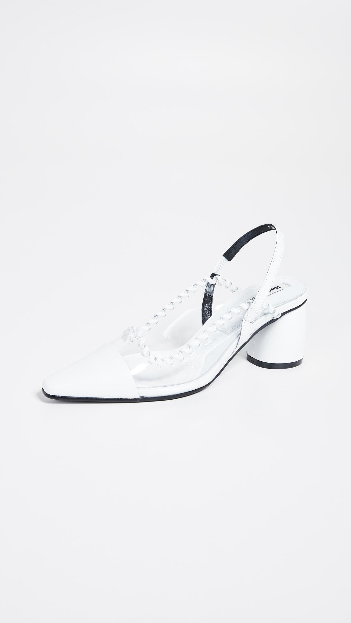 4180ed55abc Lyst - Reike Nen Pvc Curved Middle Slingback Pumps in White
