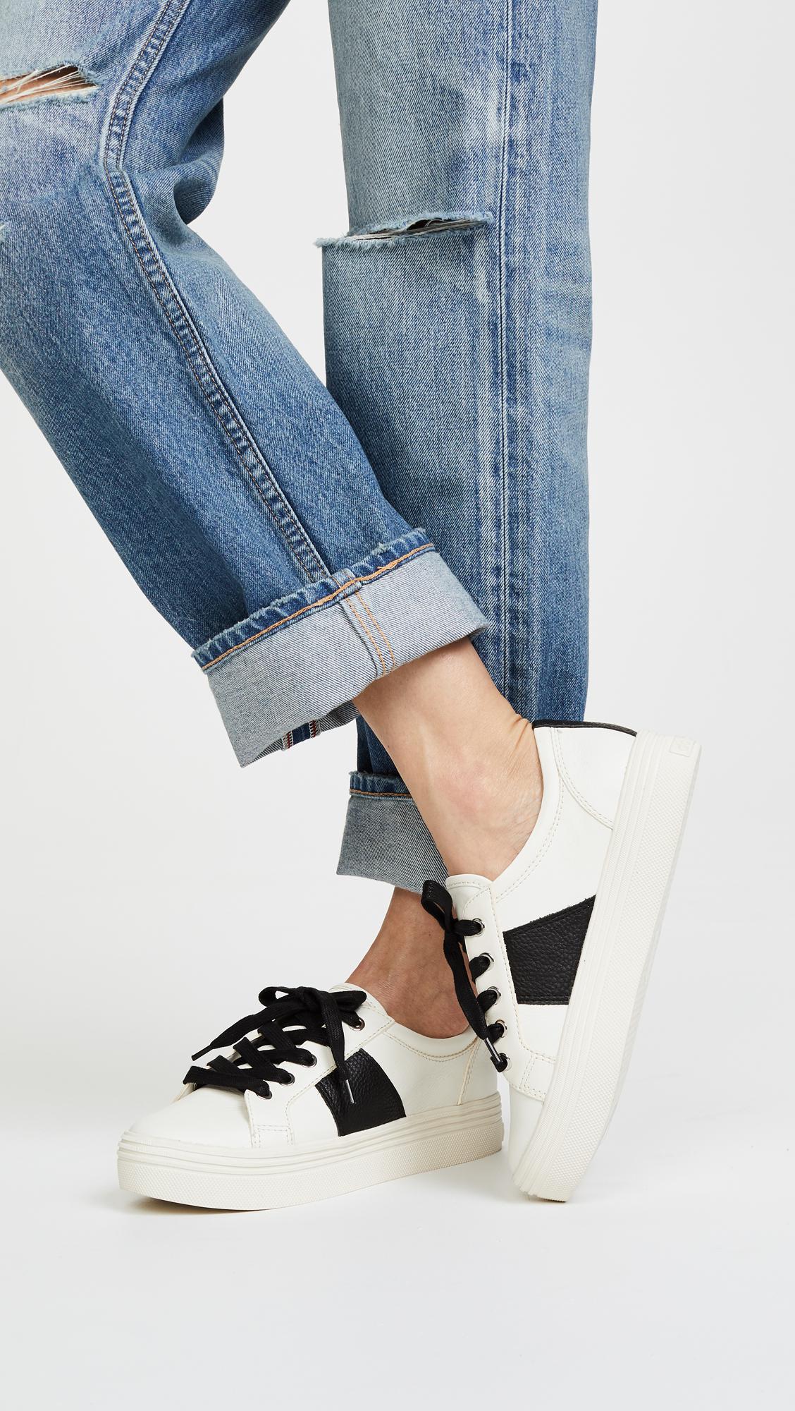 Dolce Vita Women's Tavina Leather Lace Up Platform Sneakers Wholesale Quality IQQnctMqEs
