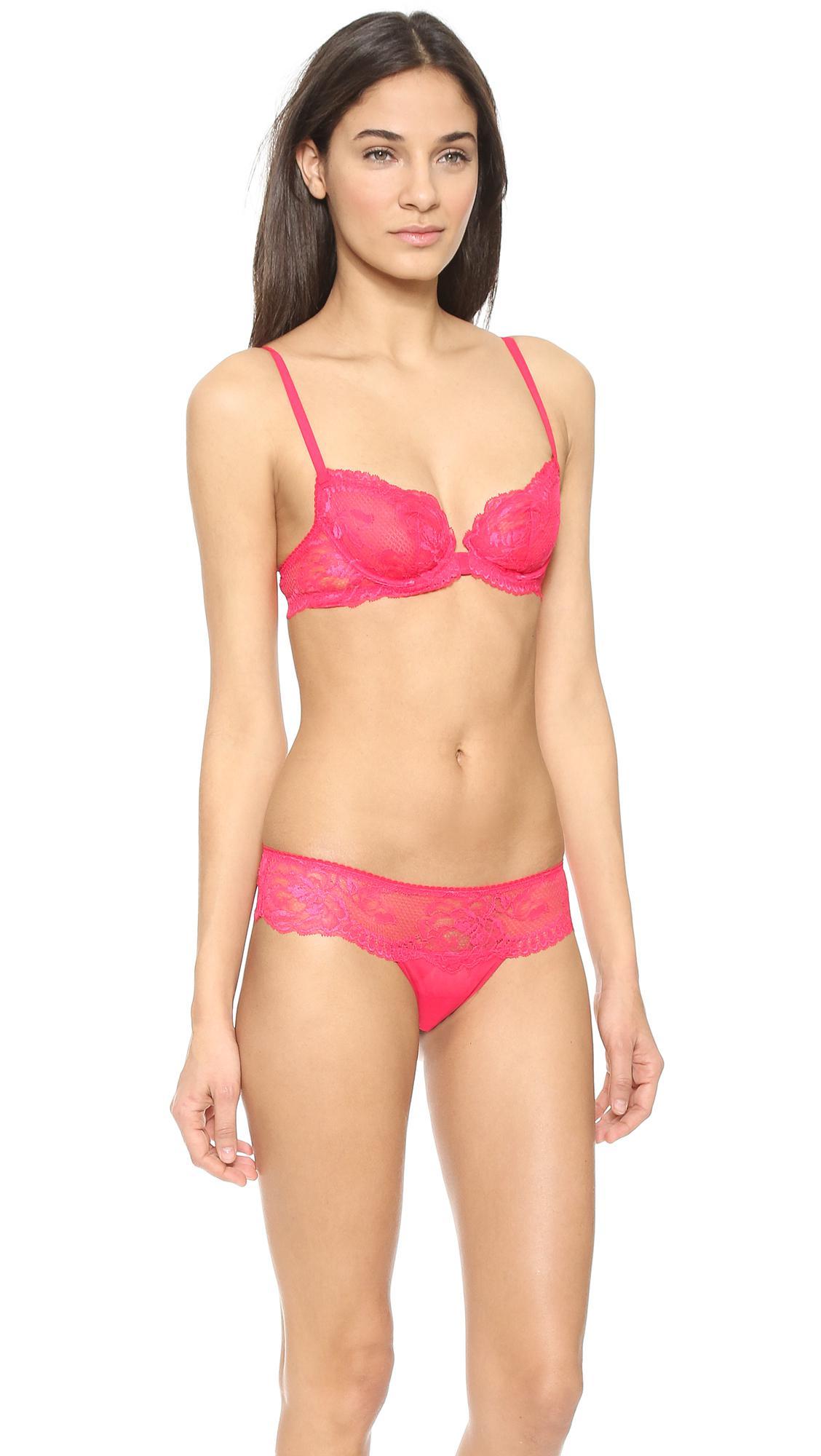 052ba413fad07 La Perla Begonia Sheer Demi Bra in Pink - Lyst