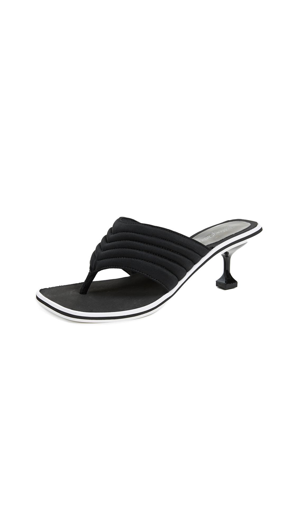 3fdf035885fe Jeffrey Campbell Overtime Kitten Heel Flip Flops in Black - Lyst