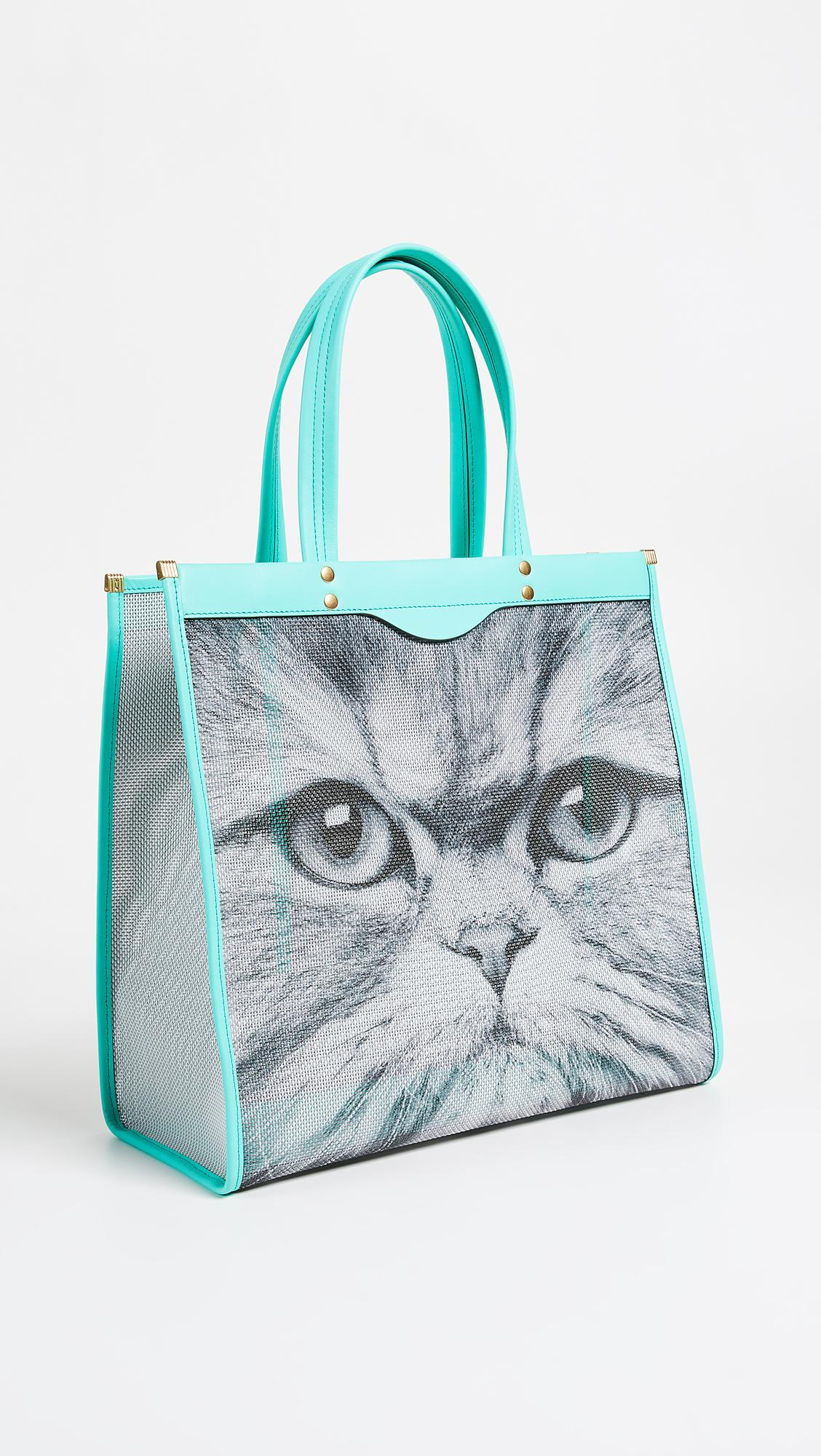Kitsch Mesh Tote Bag in Chalk and Light Arsenic Mesh Anya Hindmarch jwLFBnDKv