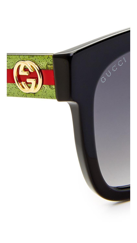 1b86359d7d87a Gucci - Multicolor Urban Pop Square Sunglasses - Lyst. View fullscreen
