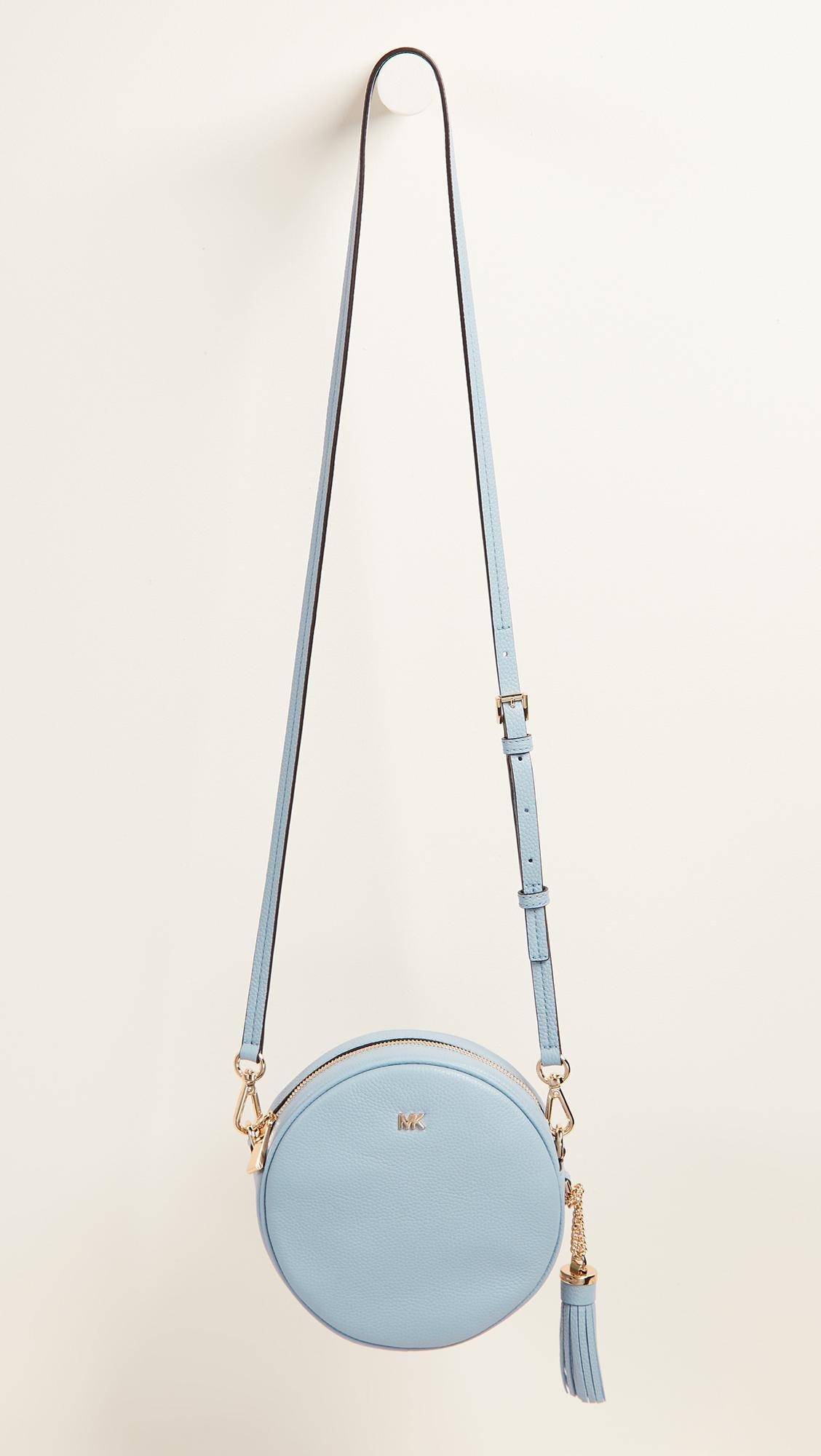 951f330531e5c3 MICHAEL Michael Kors Medium Canteen Cross Body Bag in Blue - Lyst