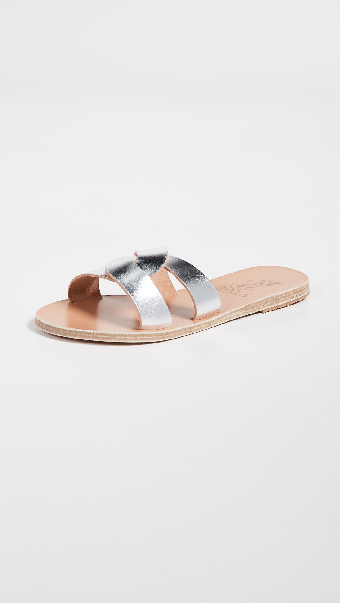 fd68aa30b9 Ancient Greek Sandals Desmos Slides in Metallic - Lyst