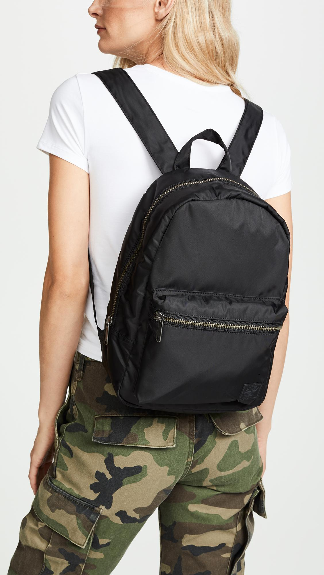 0362a195a98 Lyst - Herschel Supply Co. Flight Satin Grove X Small Backpack in Black