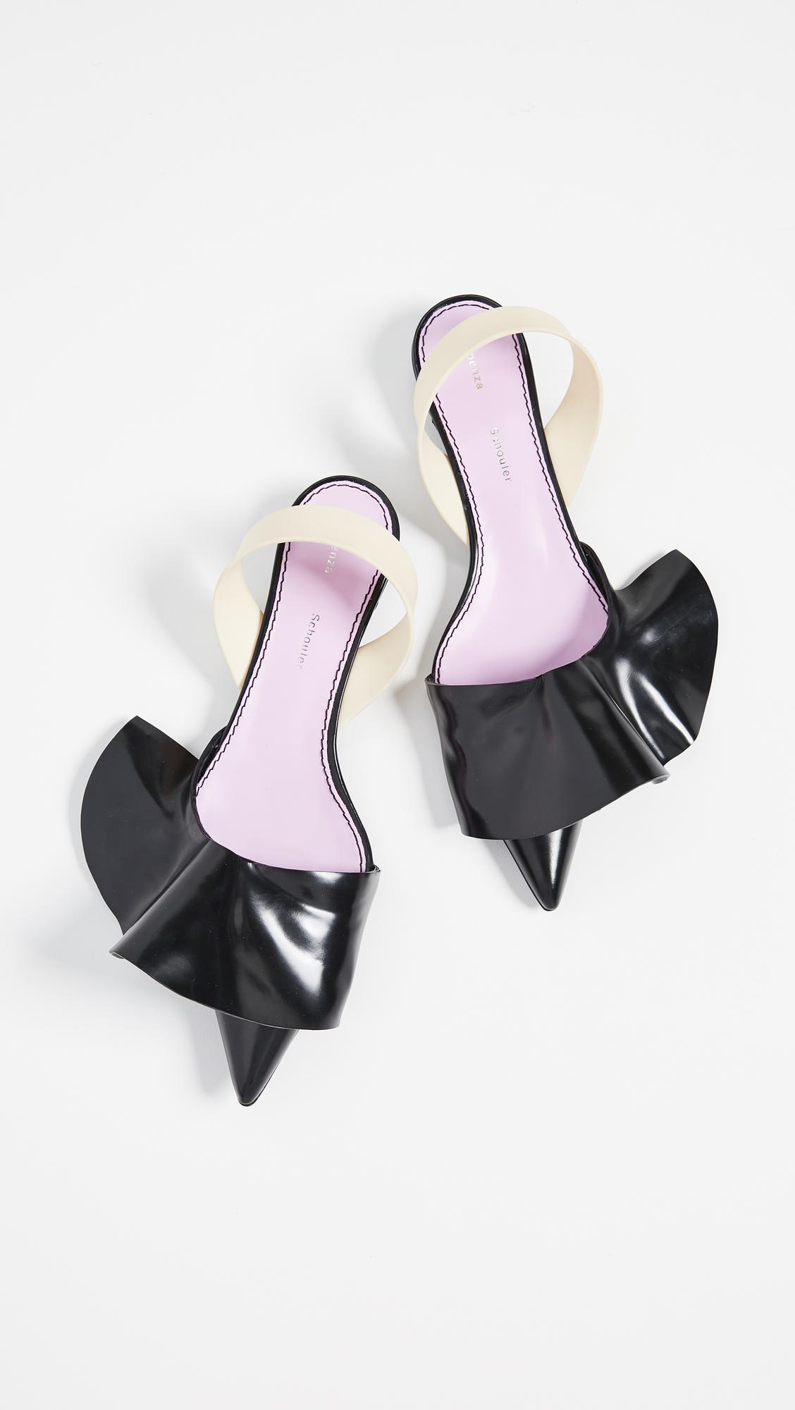 a120d7154ba Lyst - Proenza Schouler Ruffle Kitten Heel Flats in Black