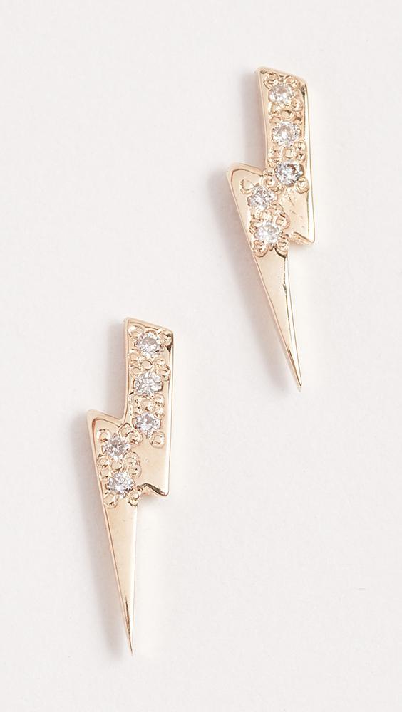 Sydney Evan Lightning Bolt Single Stud Earring with Diamonds TZn75QxqF