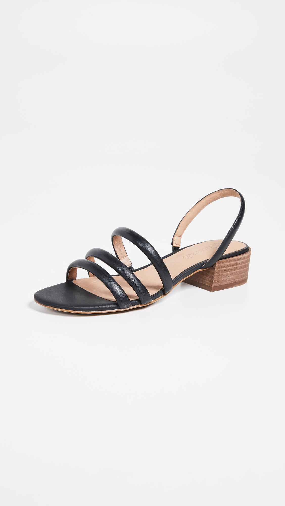 7ebe6e537c0 Lyst - Madewell The Addie Slingback Sandals in Black