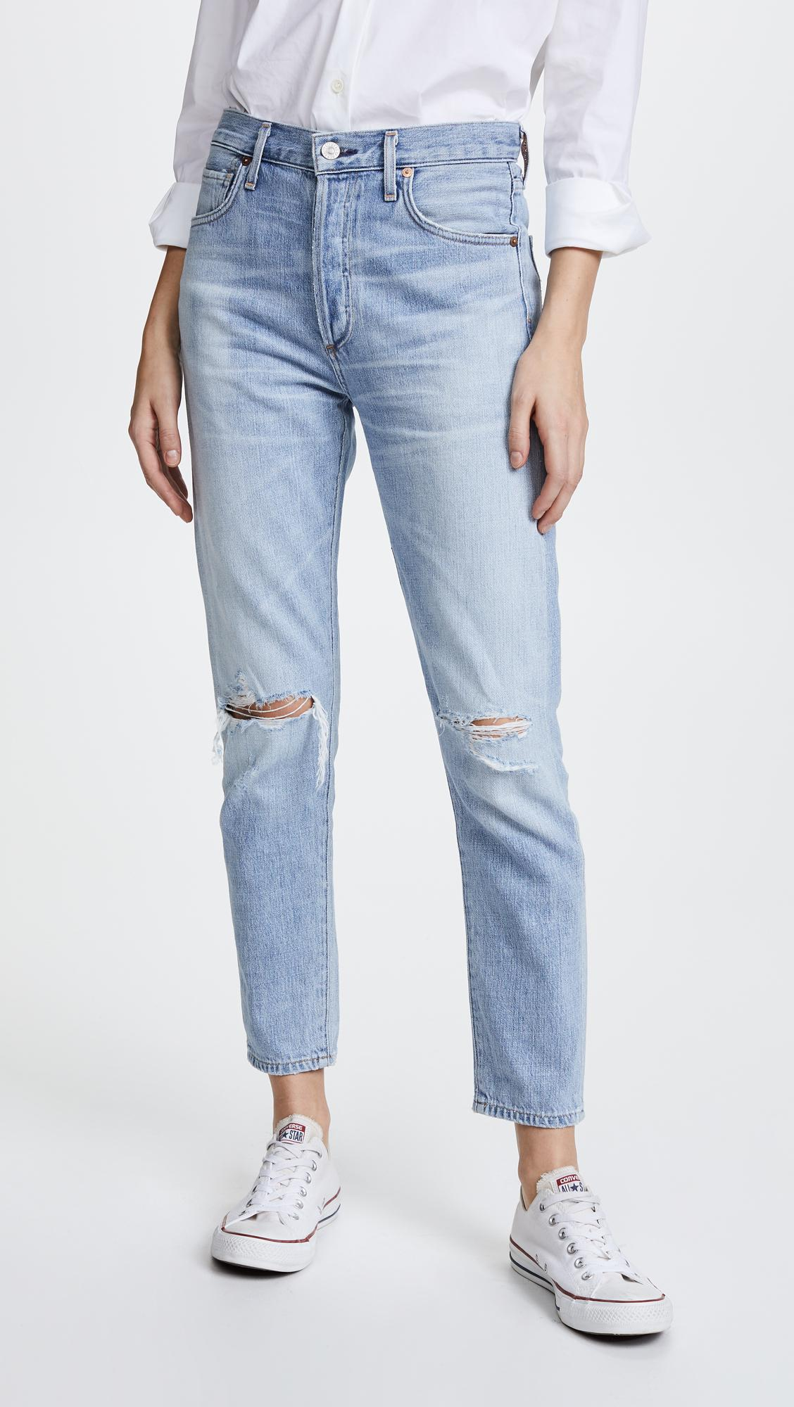 Liya cropped tapered jeans - Blue Citizens Of Humanity eDBxyiHXK9