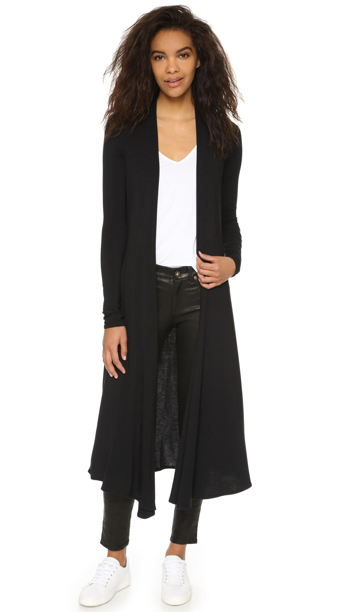 Riller & fount Norma Extra Long Cardigan in Black | Lyst