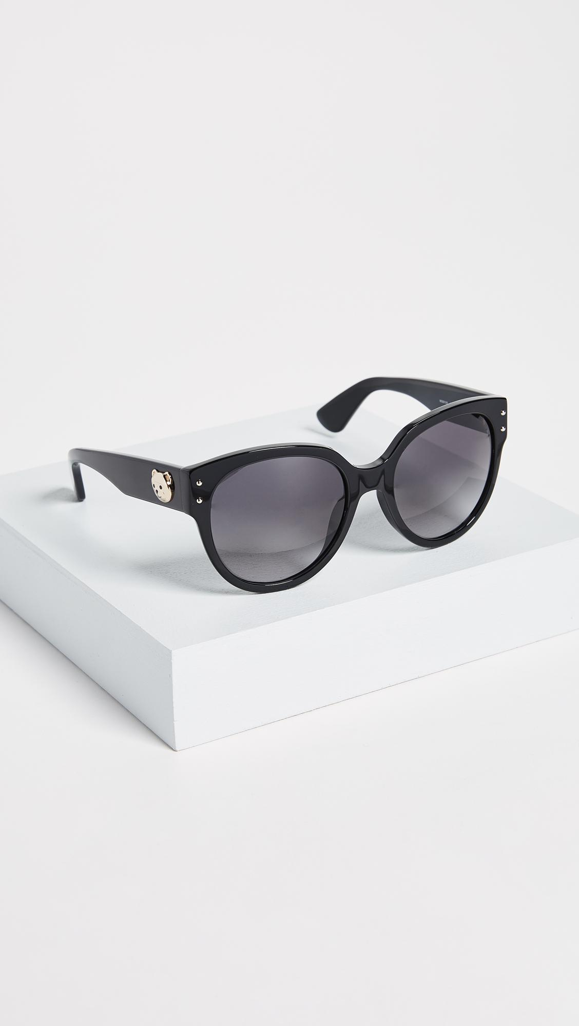 4da6c541ca8 Moschino Bear Logo Sunglasses in Gray - Lyst