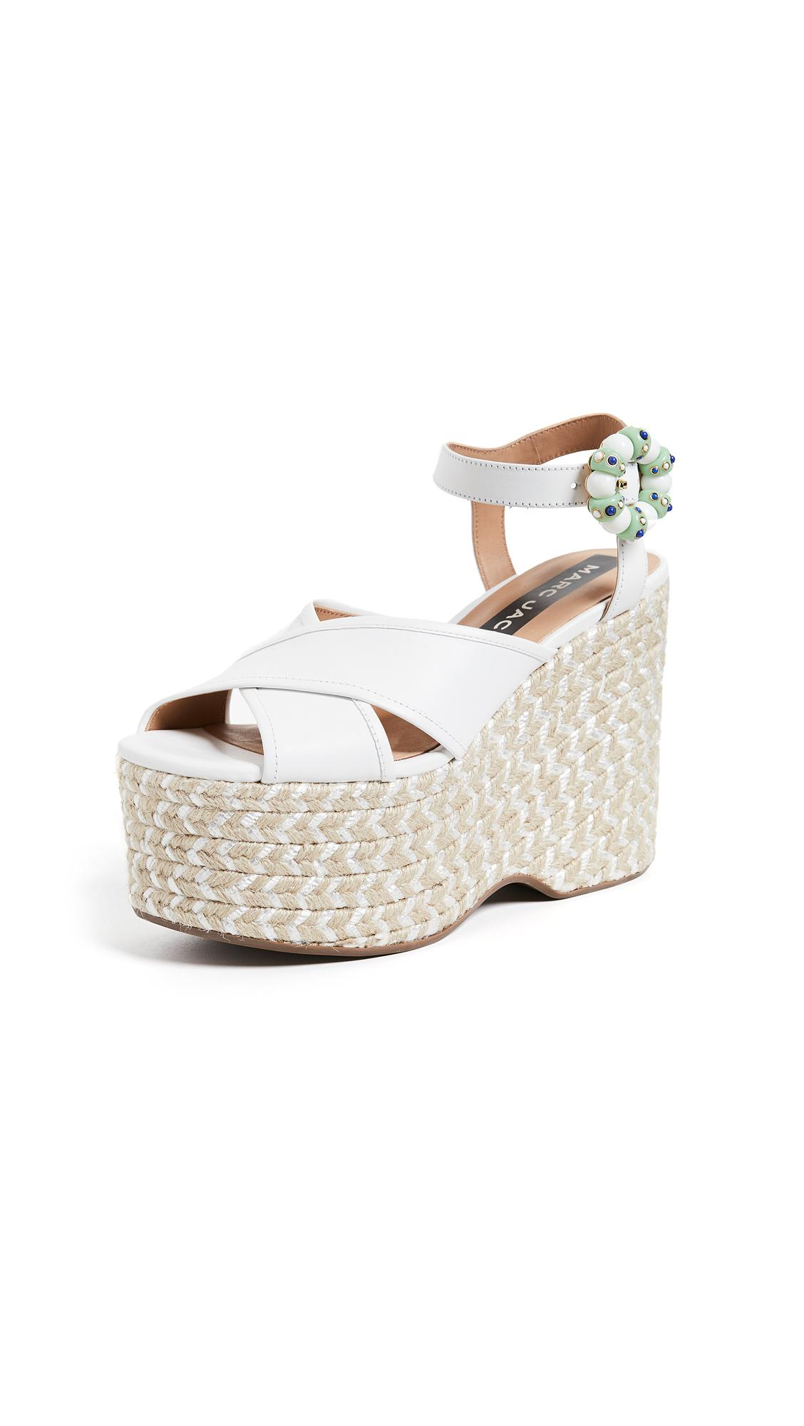 63e3d49ba000 Marc Jacobs - White Rowan Espadrille Wedges - Lyst. View fullscreen