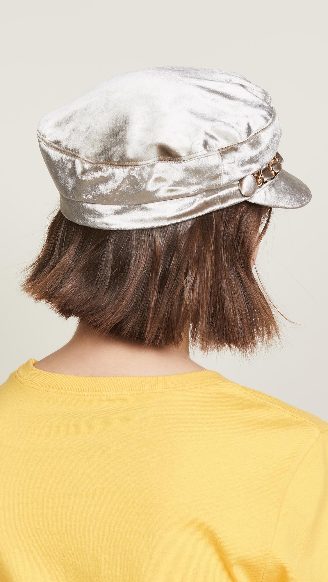 Lyst - Eugenia Kim Marina Velvet Hat 370059a25a6b