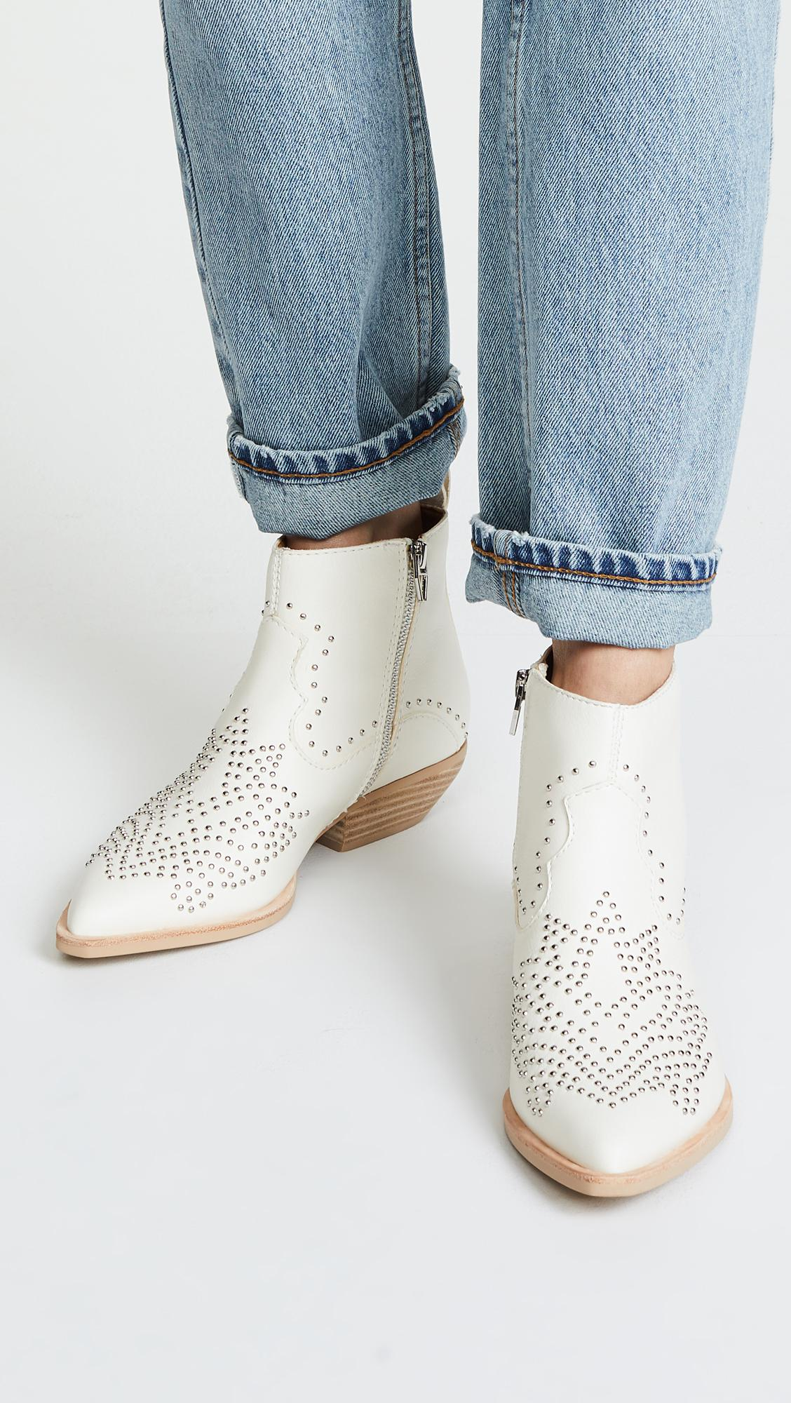 complete range of articles best prices wholesale outlet Dolce Vita White Uma Western Booties