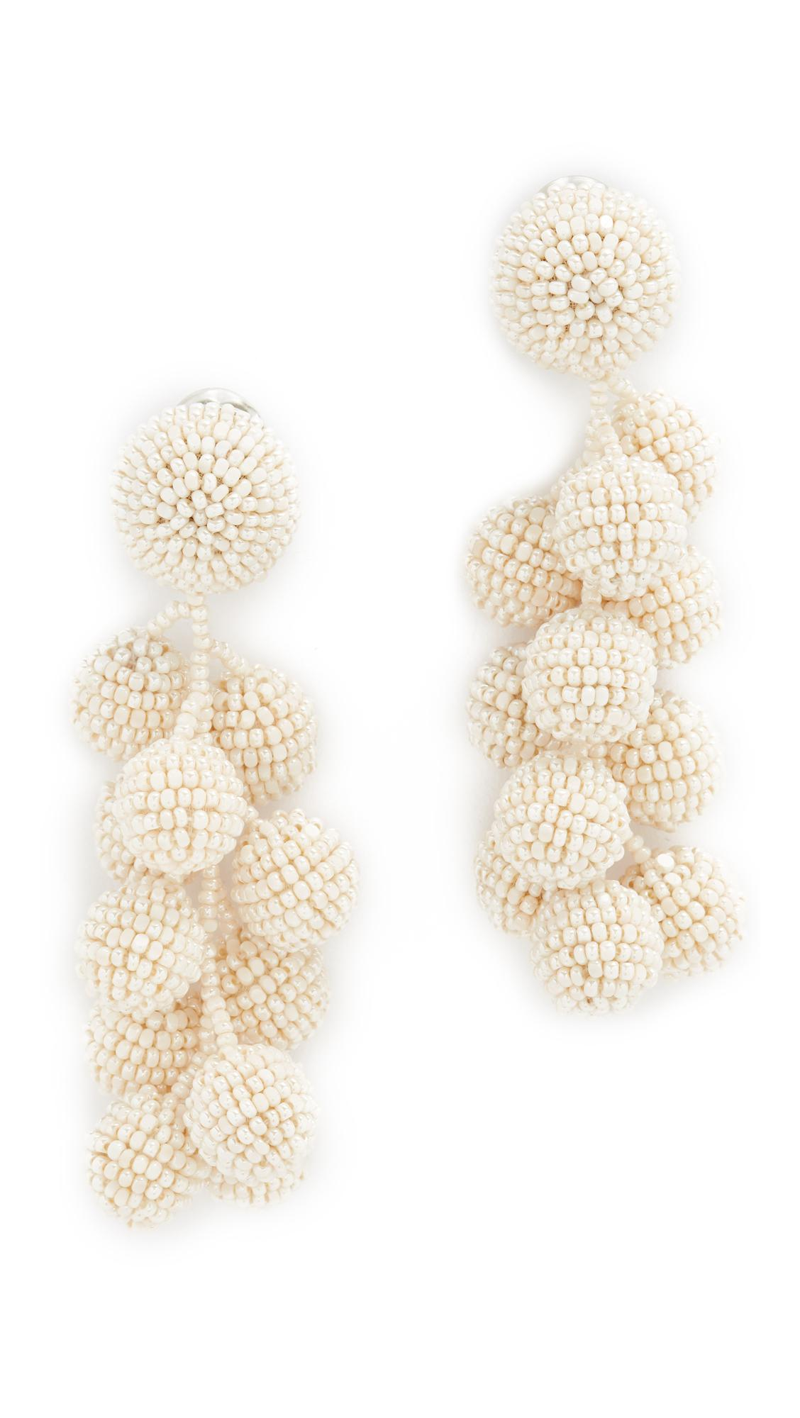 Sachin & Babi Bijoux Coconut Beaded Clip Earrings