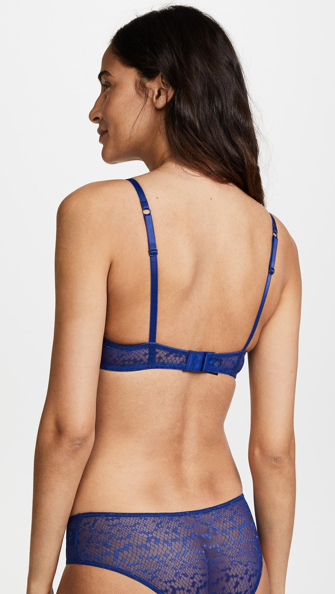 Les girls les boys snake lace underwire bra in blue lyst jpg 1128x2000 Boys  bra a0dedd229