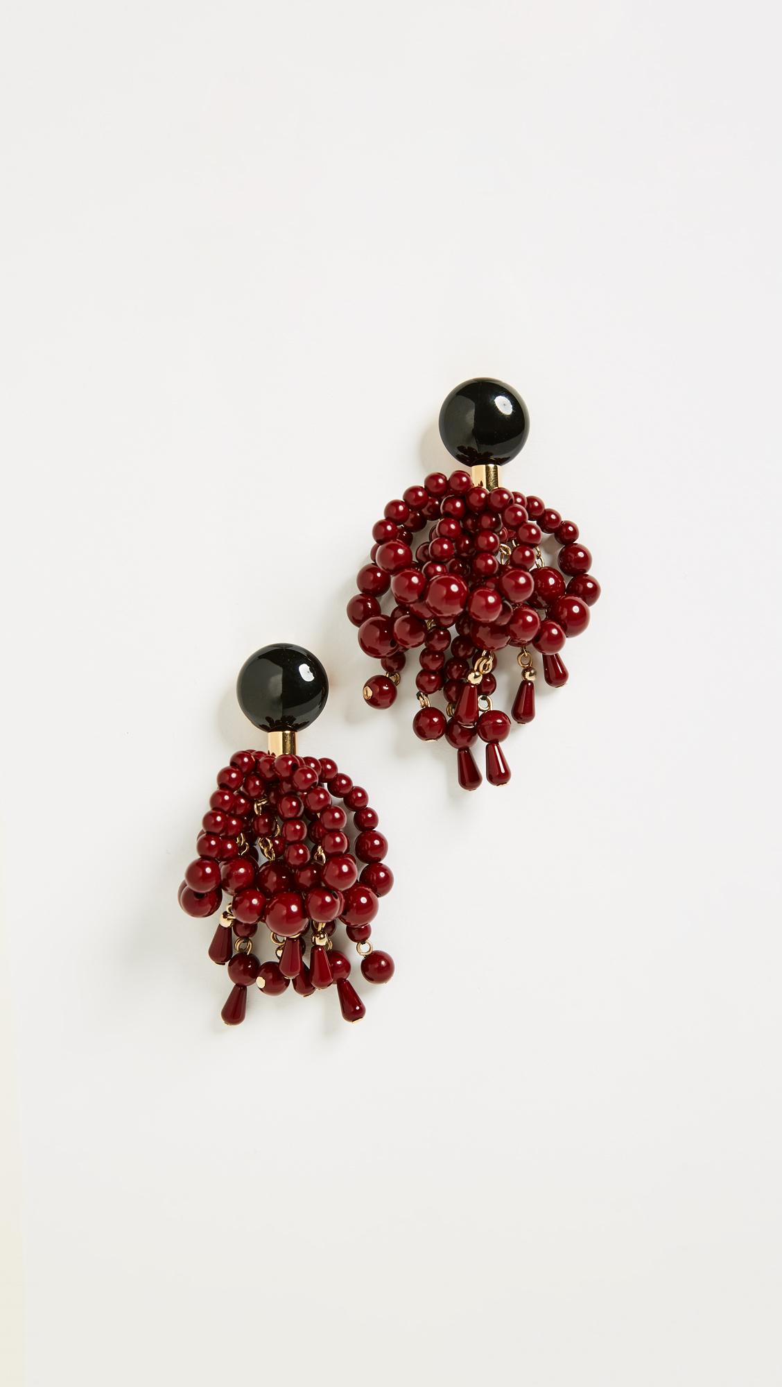Beads Earrings in Burgundy Resin Marni pk2yB5P