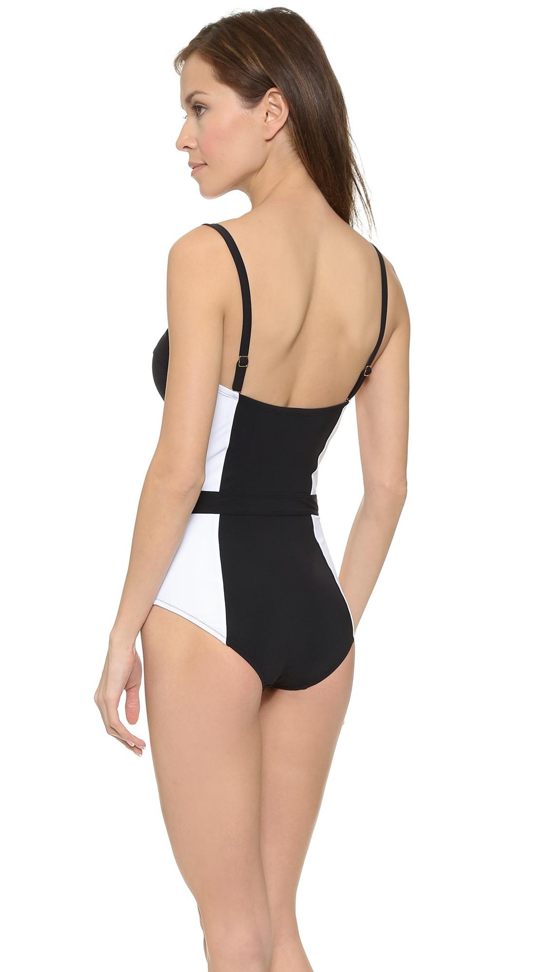 48051d2608b57 Lyst - Tory Burch Lipsi One Piece Swimsuit in Black