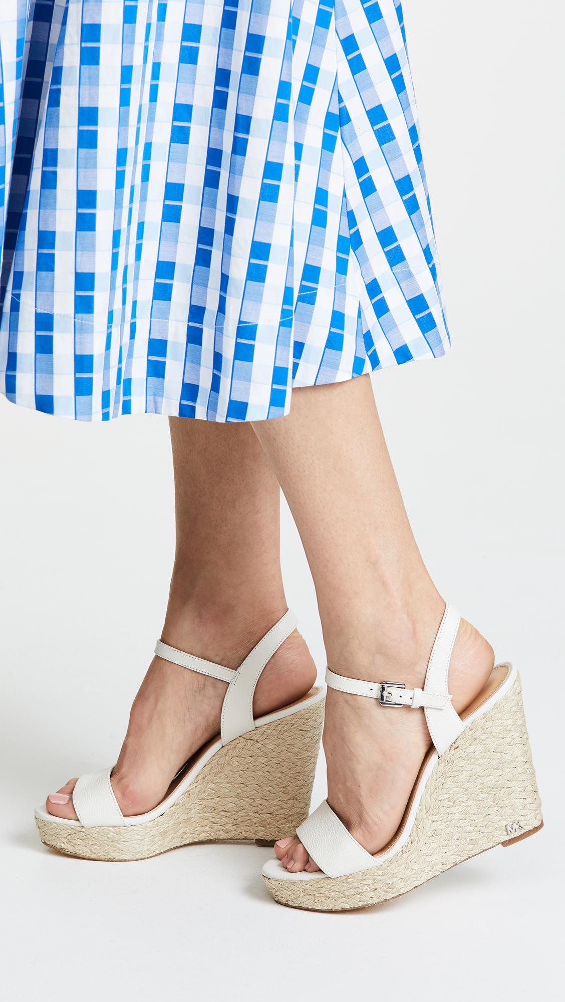 31d53ca8f24 MICHAEL Michael Kors Jill Espadrille Wedges in White - Lyst