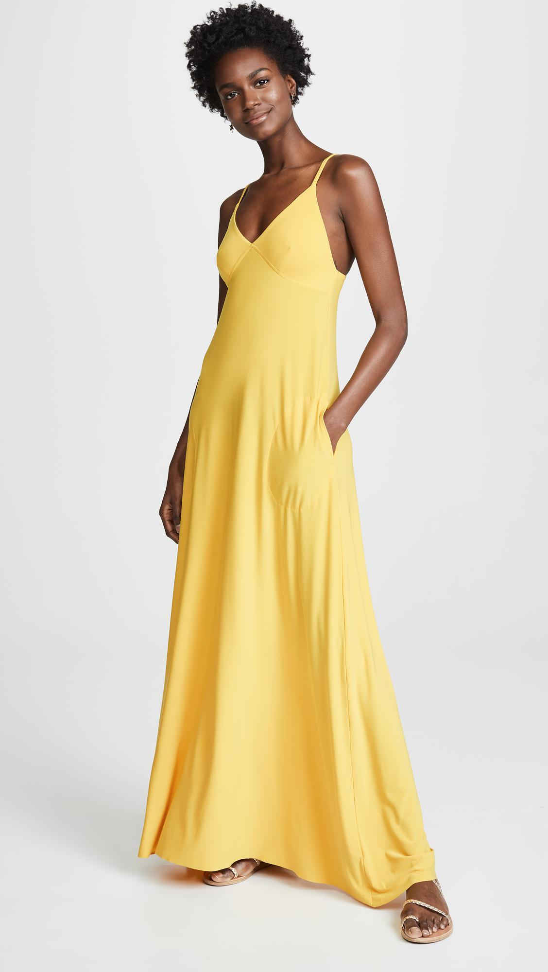 8b4a4c0f0ef4 Lyst - Norma Kamali A-line Slip Dress in Metallic