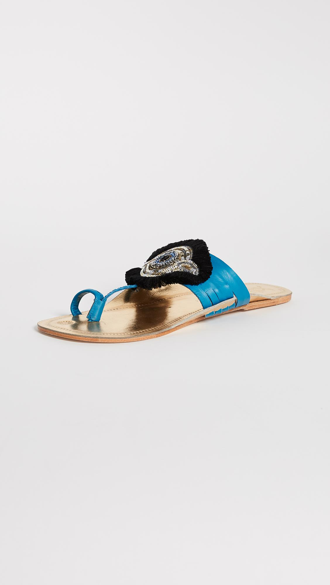 enjoy online Figue Evil Eye Embellished Slide Sandals w/ Tags clearance 2015 buy cheap affordable hot sale for sale where can you find Tl86CQt5BA