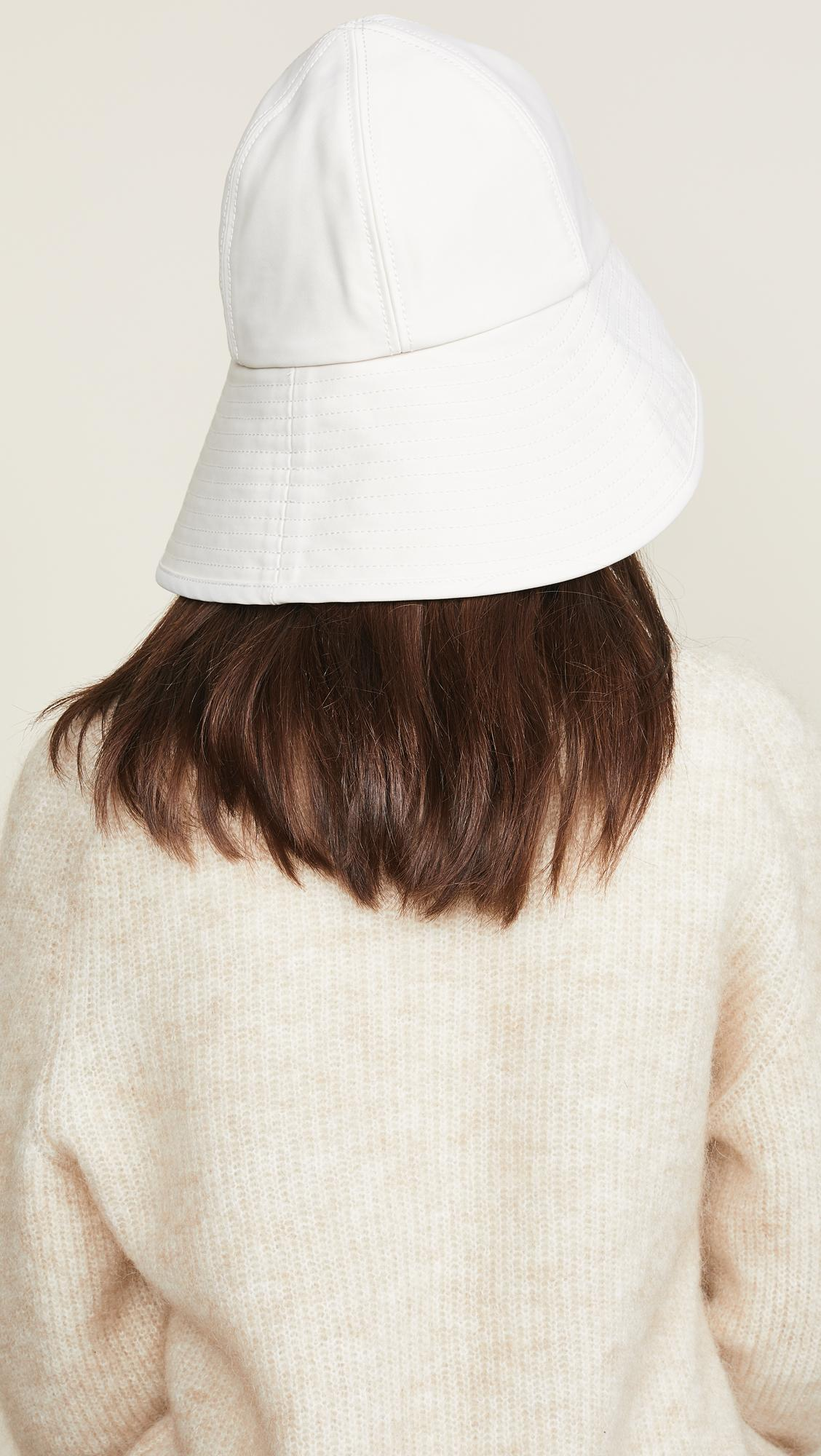 3f0a36813804f Lyst - 3.1 Phillip Lim Sateen Sporting Bucket Hat in White