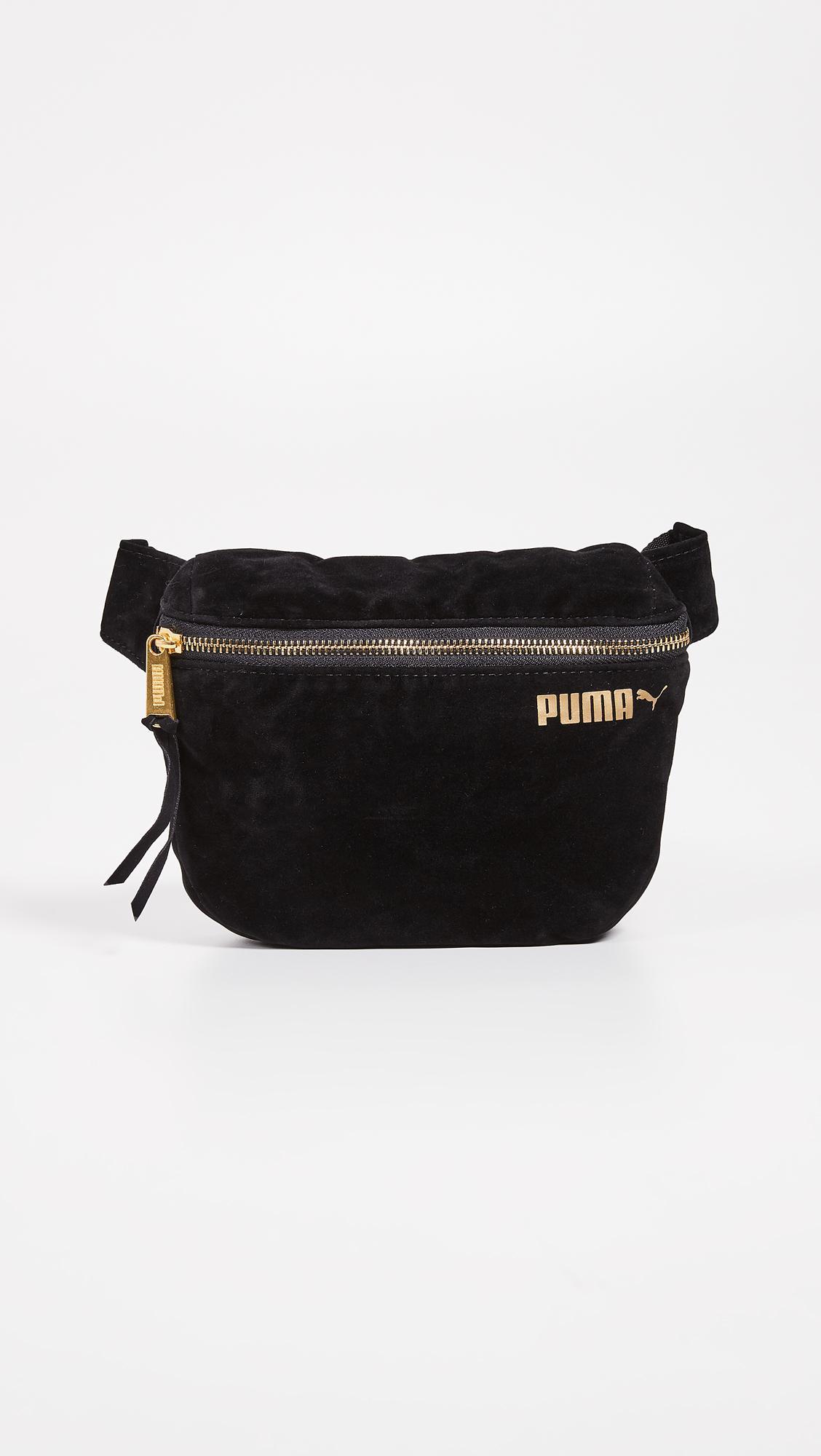 9b0124fc0b Lyst - PUMA Velvet Hip Sack in Black