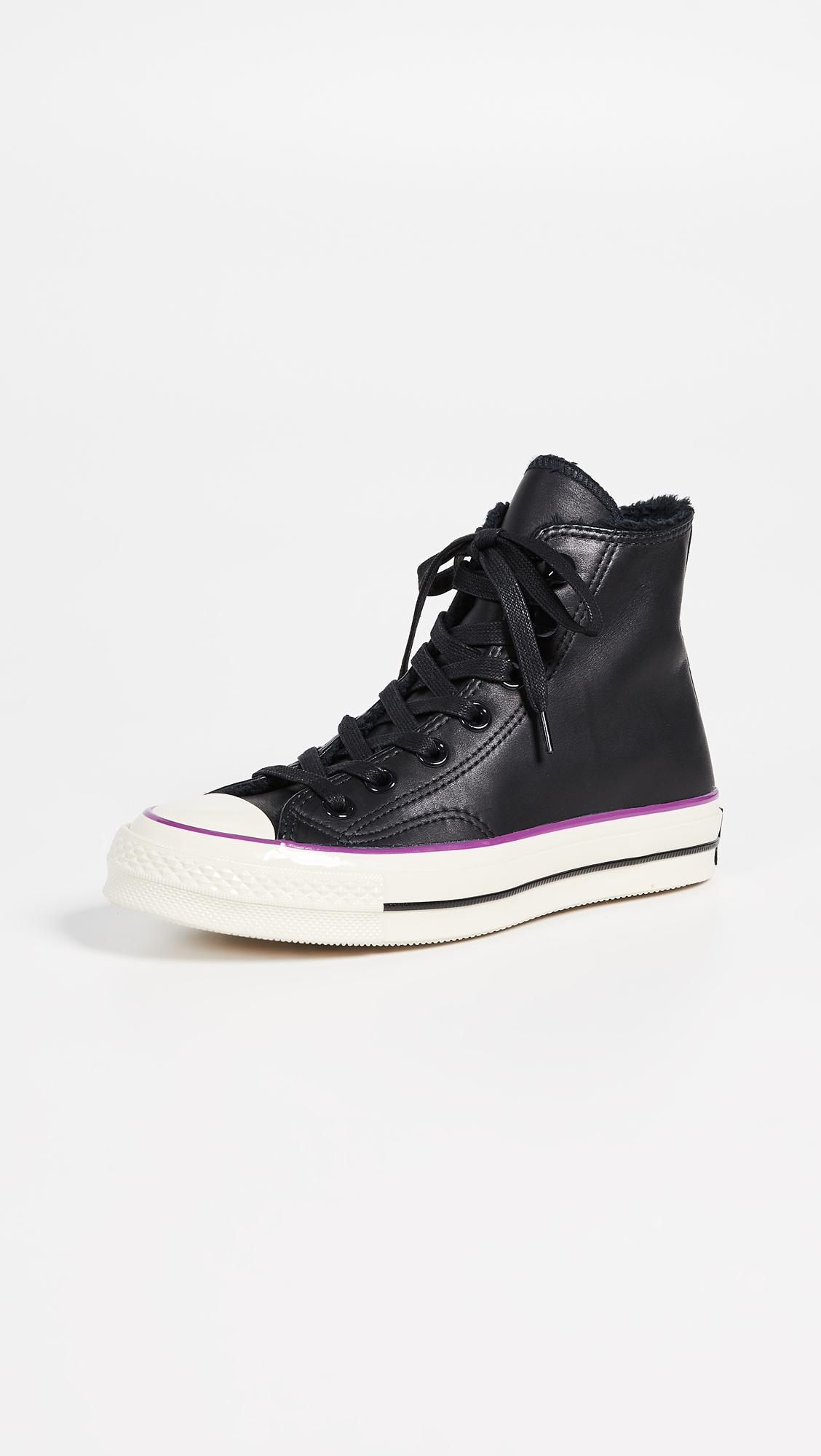 0386a9d714af Converse Chuck 70 High Top Sneakers in Black - Lyst