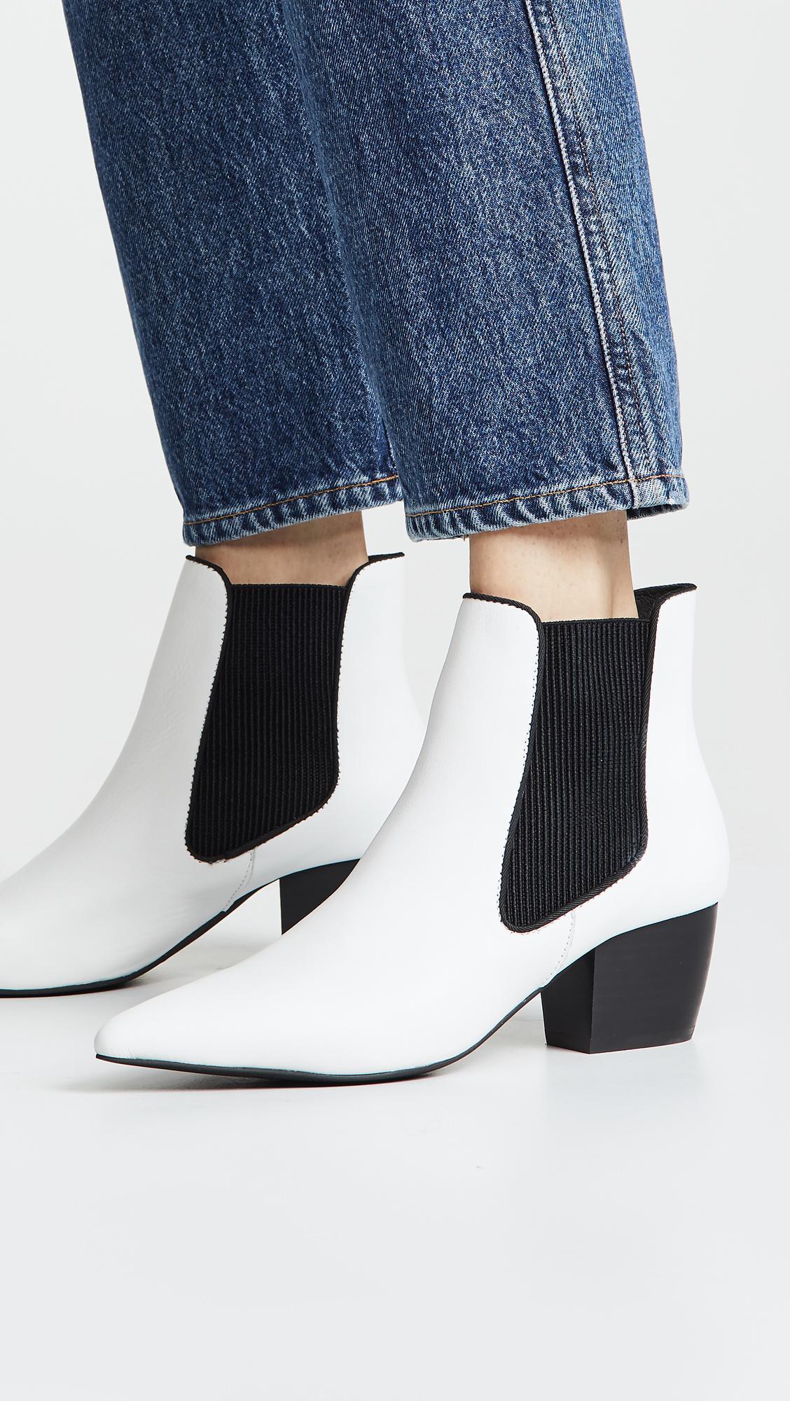 f12dcd08616c1b Lyst - Sol Sana Ella Point Toe Booties in White