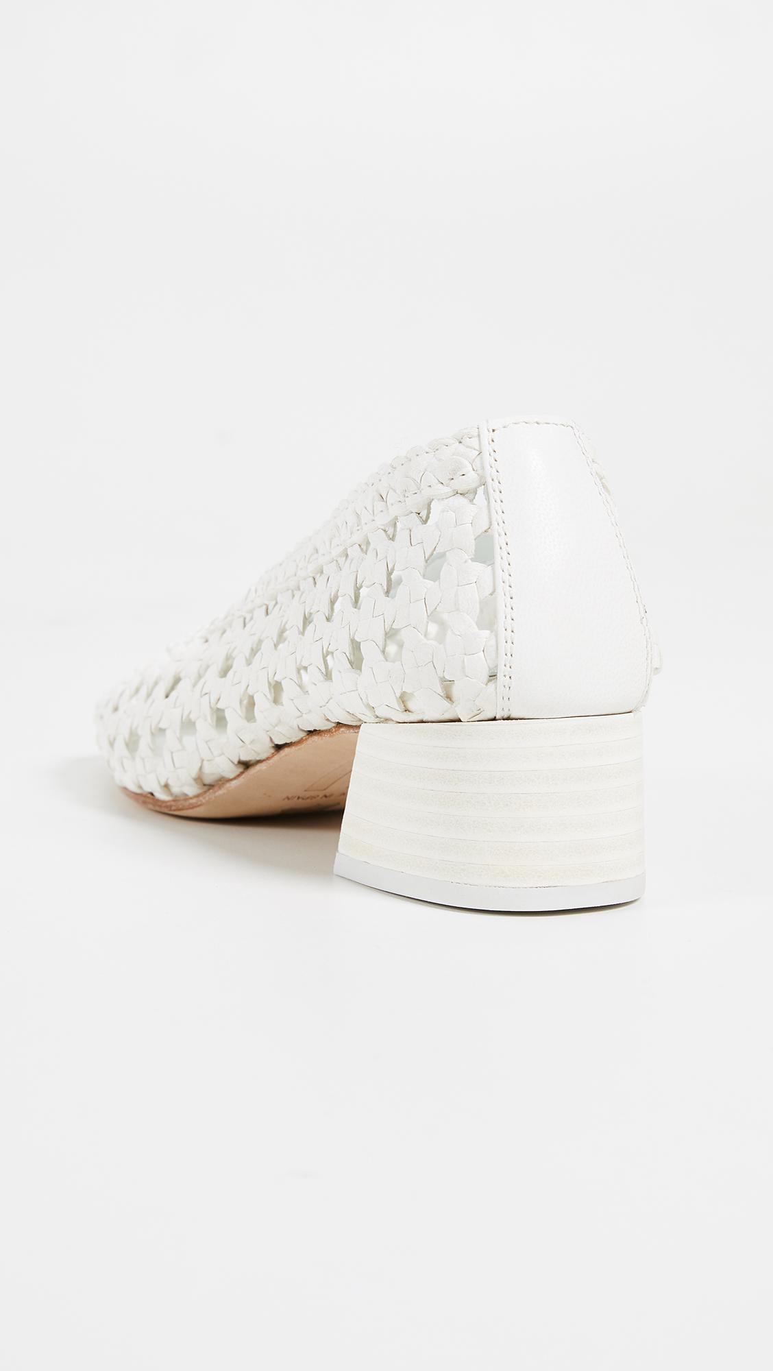 a53508d626 Miista - White Taissa Block Heel Pumps - Lyst. View fullscreen