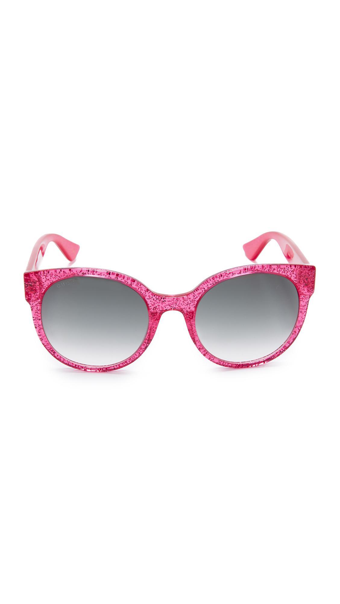 b1b678bc0c8 Lyst - Gucci Urban Pop Round Sunglasses in Pink