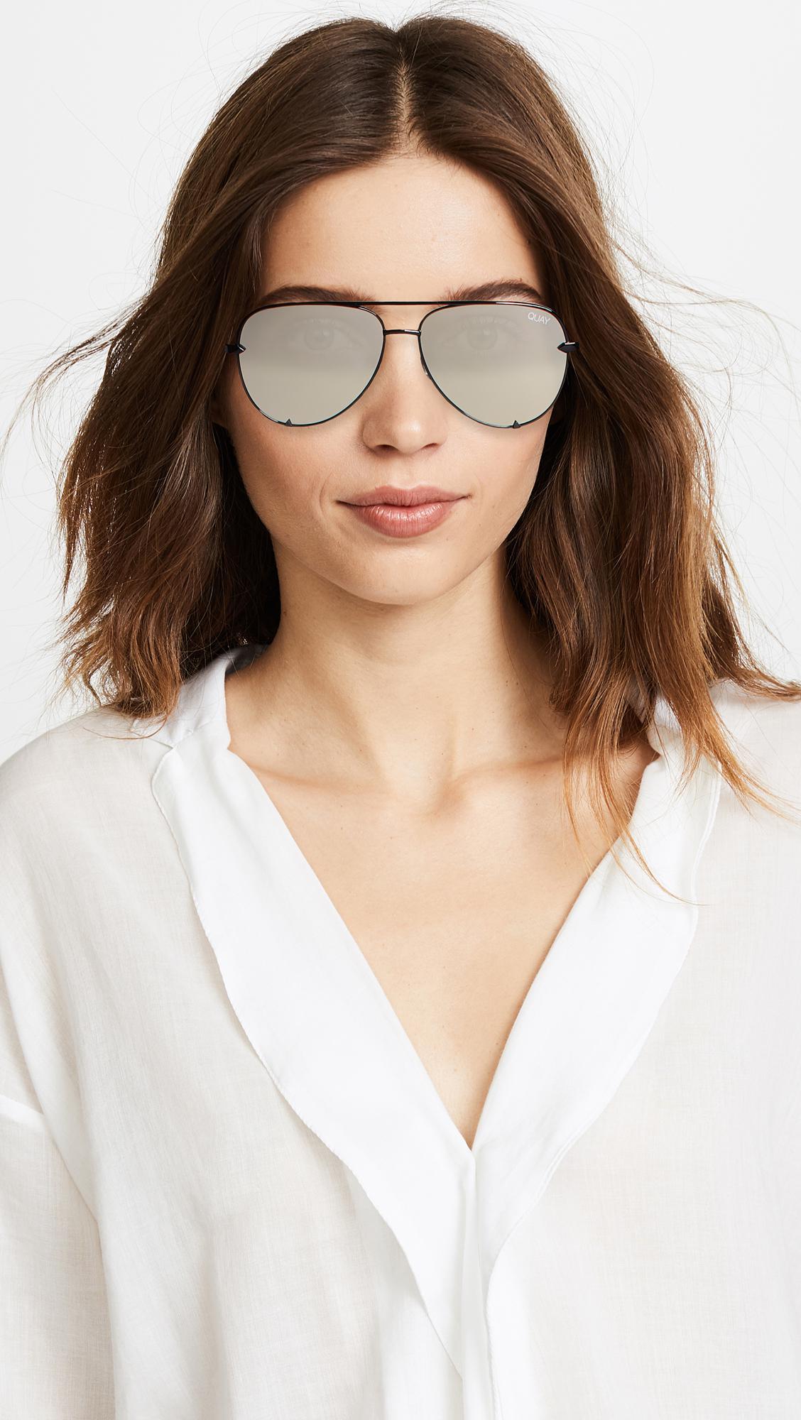 cf667d0710a Lyst - Quay X Desi Perkins High Key Mini Sunglasses