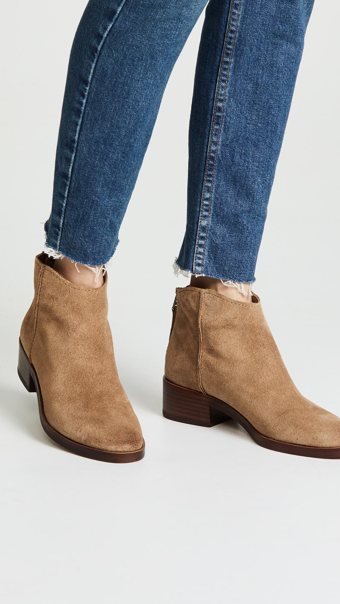 e7a4a2a570f Dolce Vita Tucker Booties in Brown - Lyst