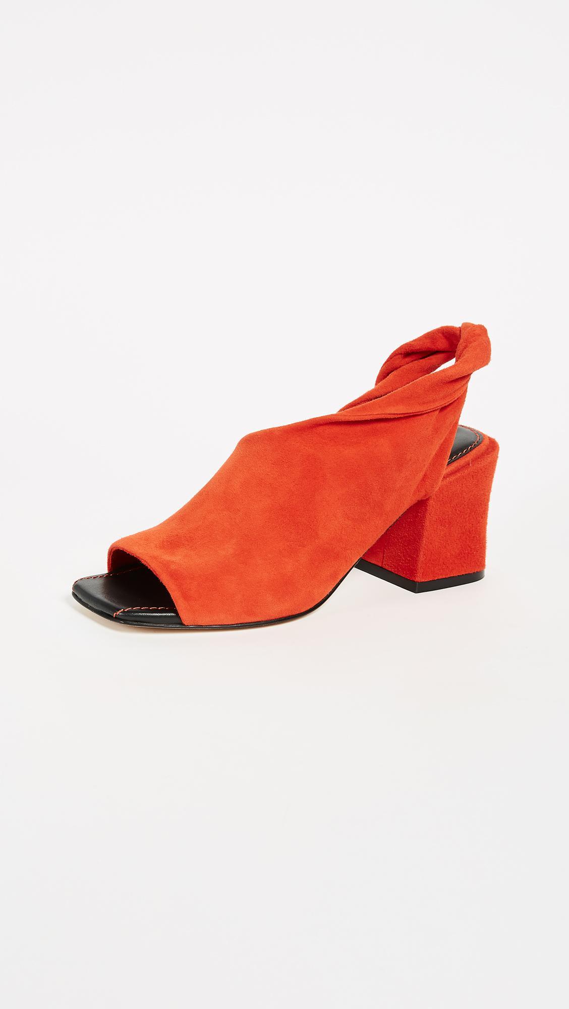 block heel sling back sandals - Yellow & Orange Sigerson Morrison RDulQzL